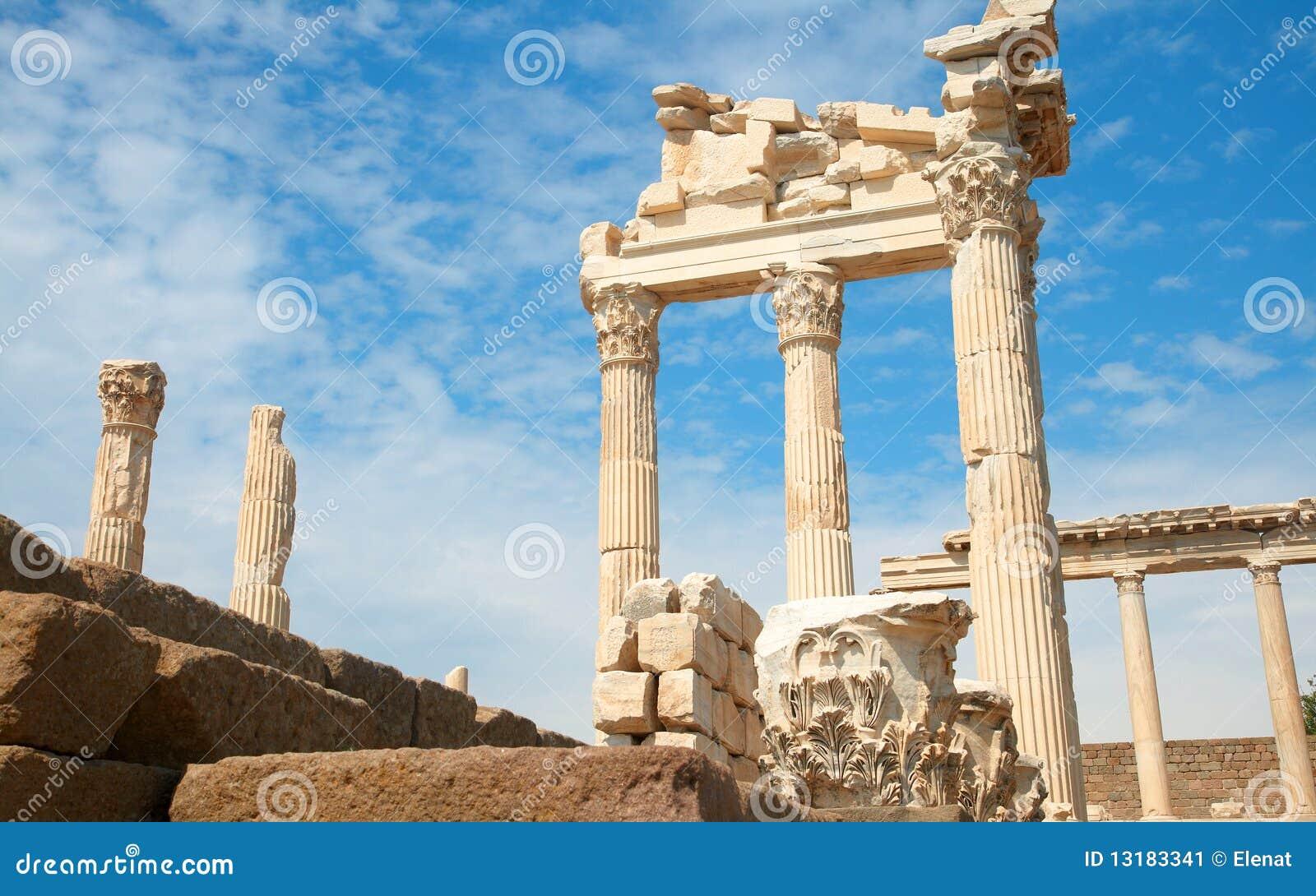 ναός trajan Τουρκία της Περγάμο
