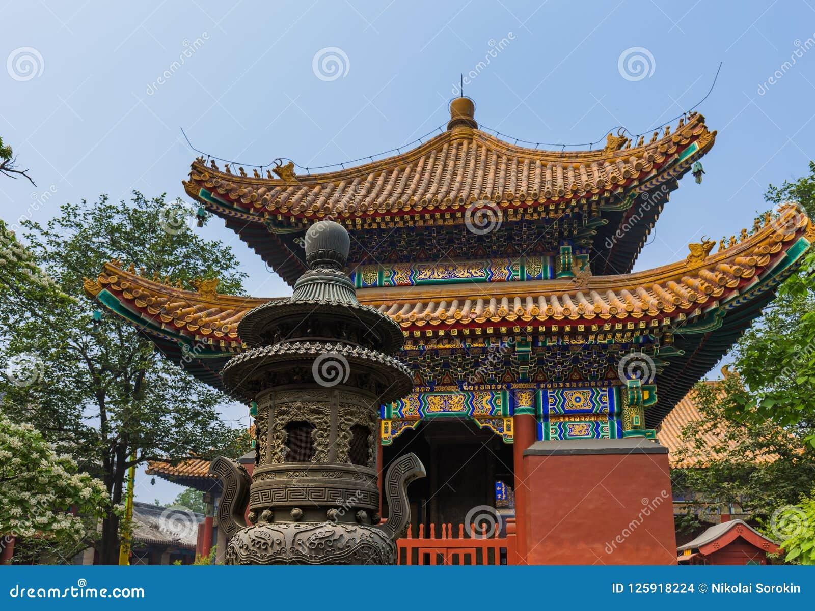 Ναός Yonghe λάμα στο Πεκίνο Κίνα