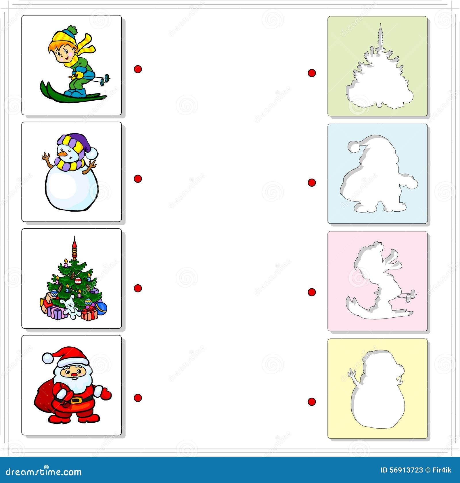 Να κάνει σκι αγοριών, χιονάνθρωπος, έλατο Χριστουγέννων και Άγιος Βασίλης εκπαιδευτικός