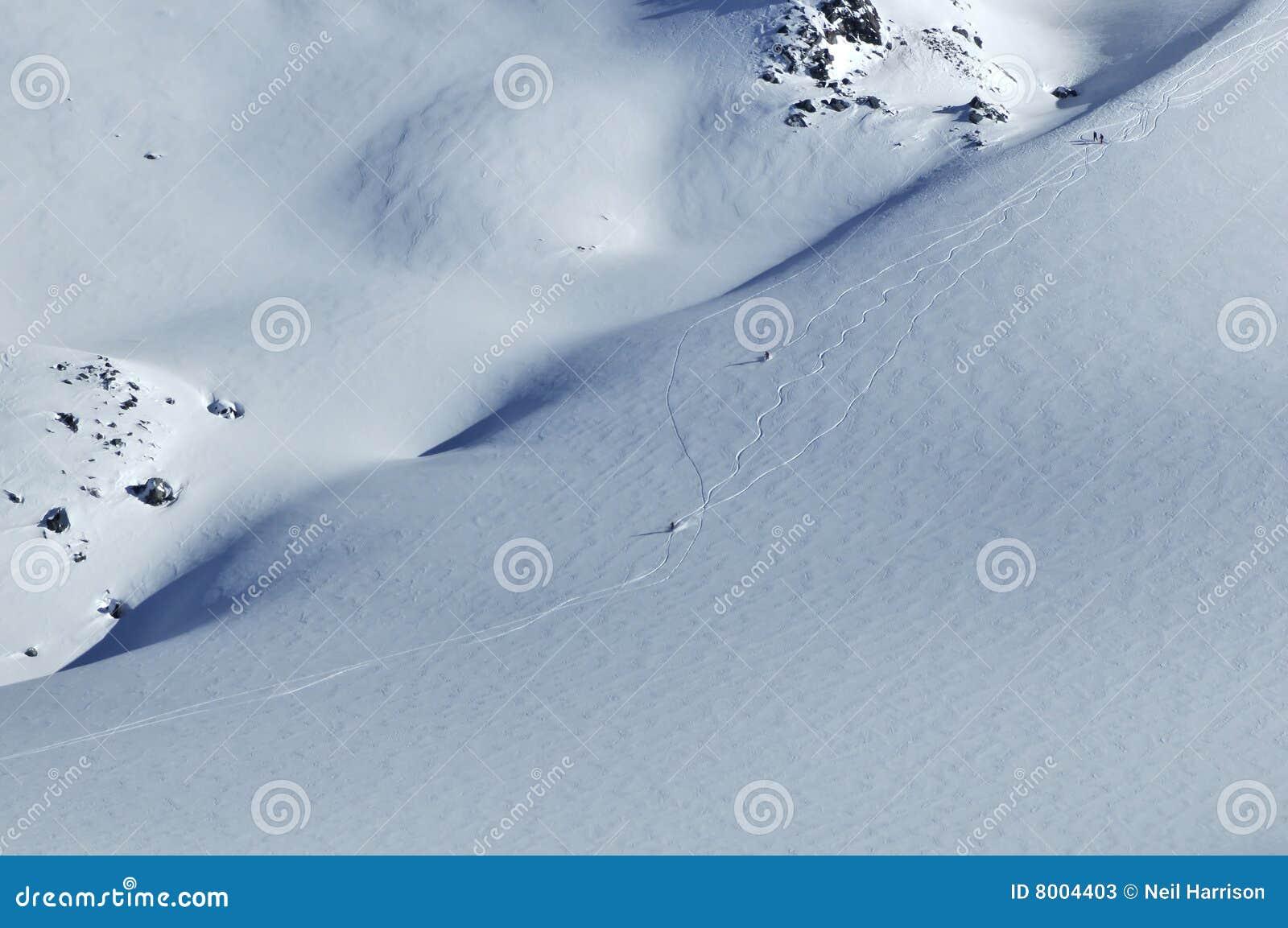να κάνει σκι σκονών χιόνι