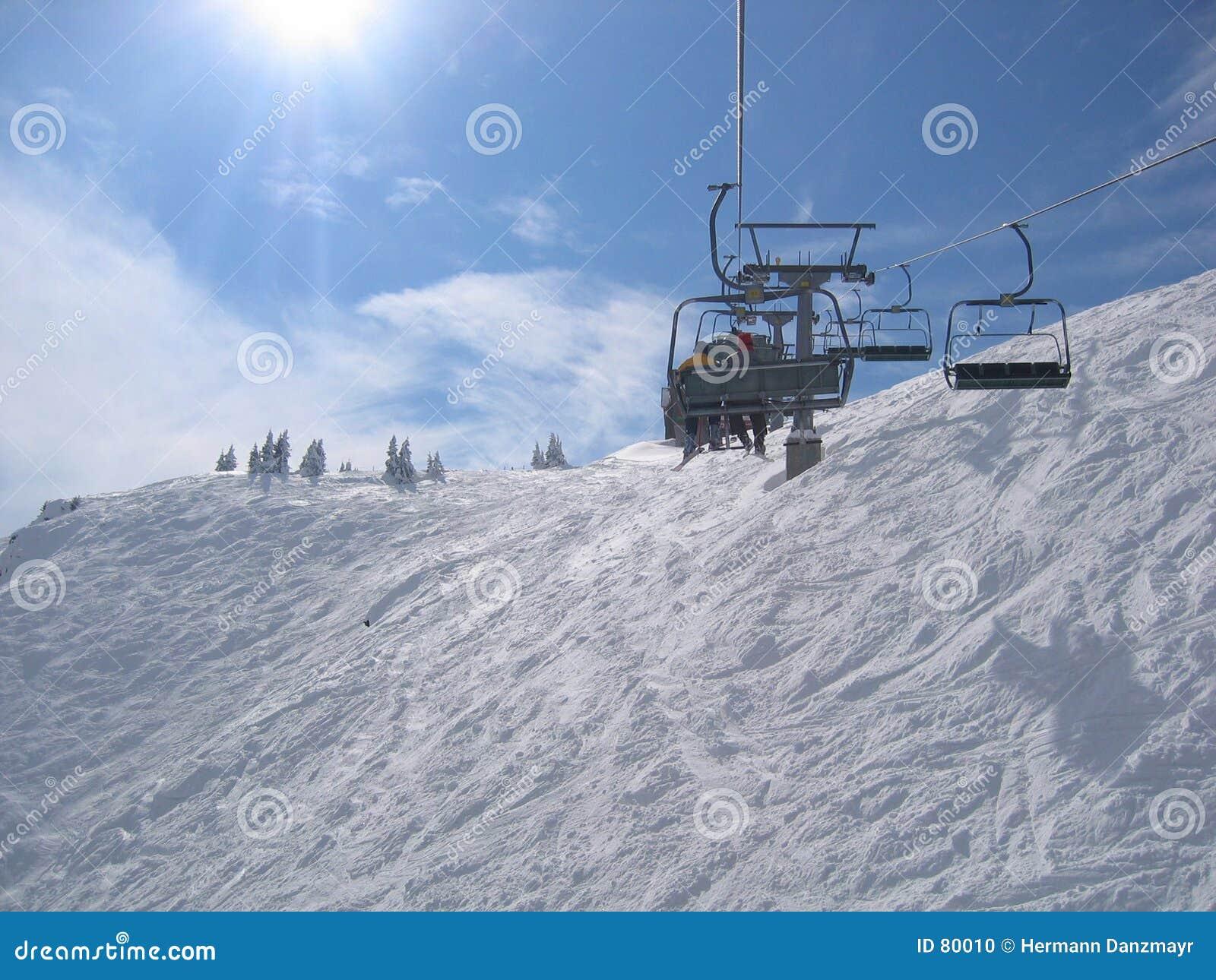 να κάνει σκι της Αυστρίας περιοχής