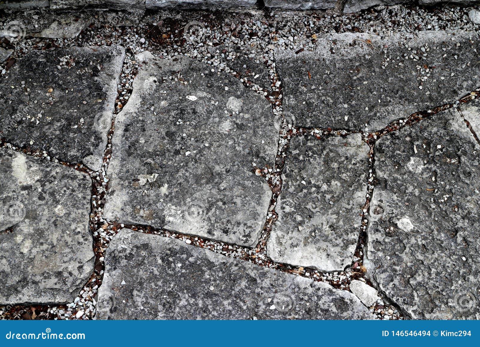 Να περπατήσει κήπων πορεία πετρών με τα τούβλα πετρών στις διάφορες μορφές