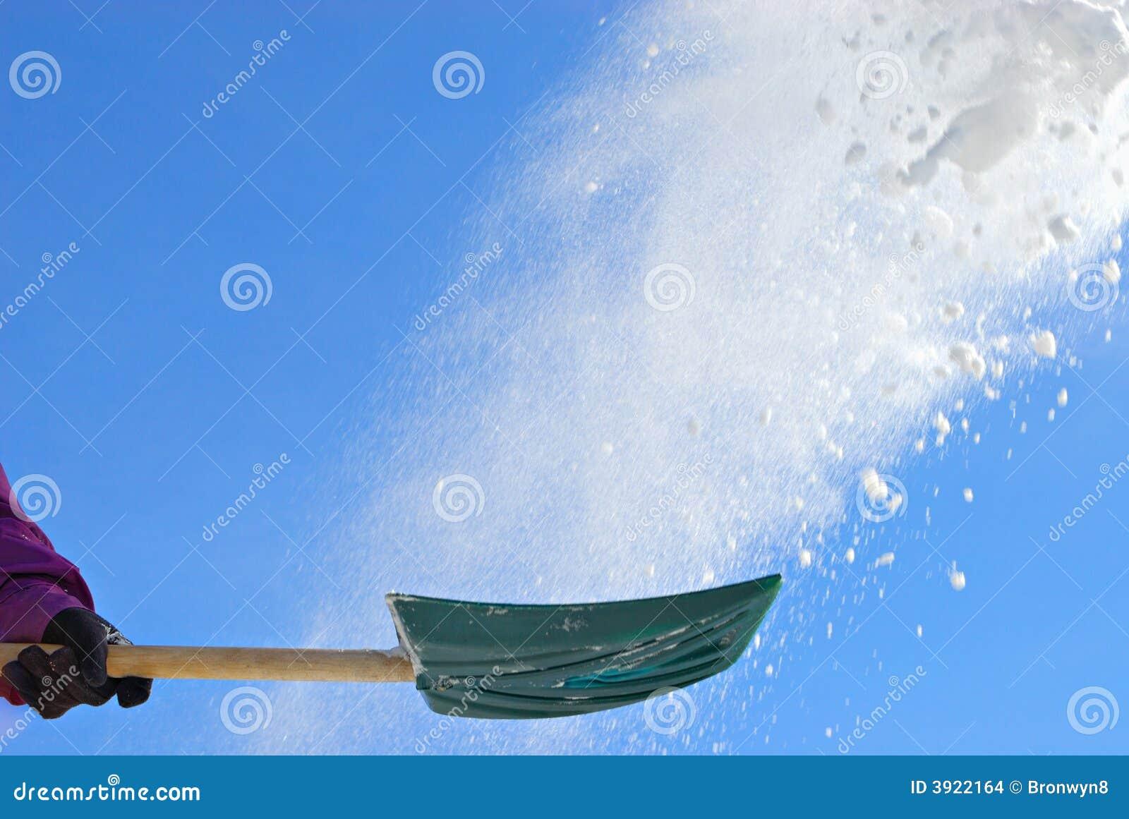 να φτυαρίσει το χιόνι