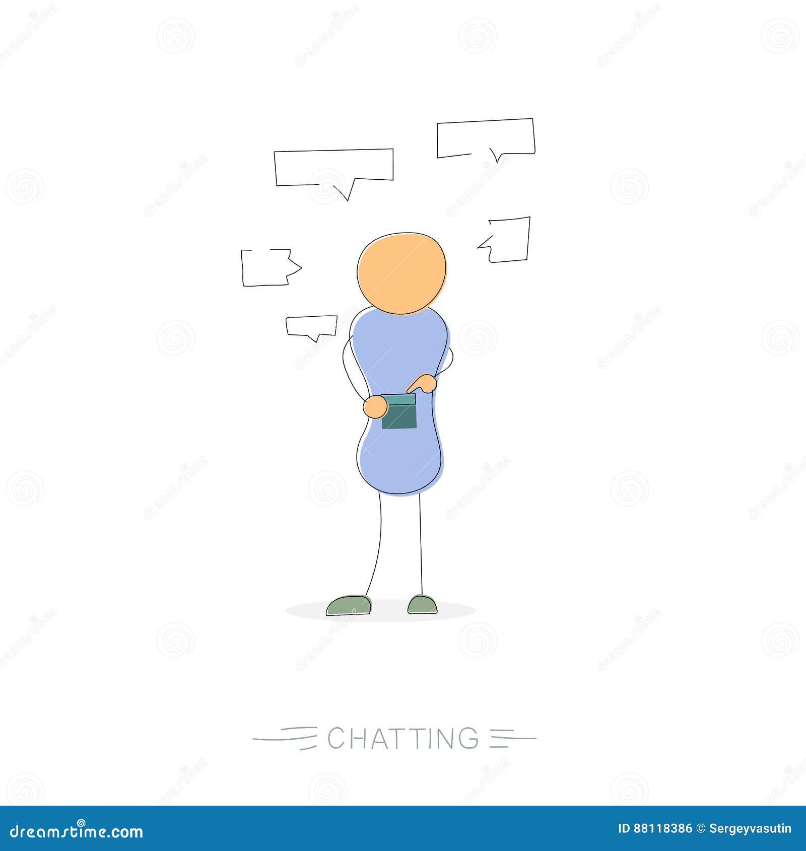 Νεαρός άνδρας με το τηλέφωνο στα κοινωνικά δίκτυα