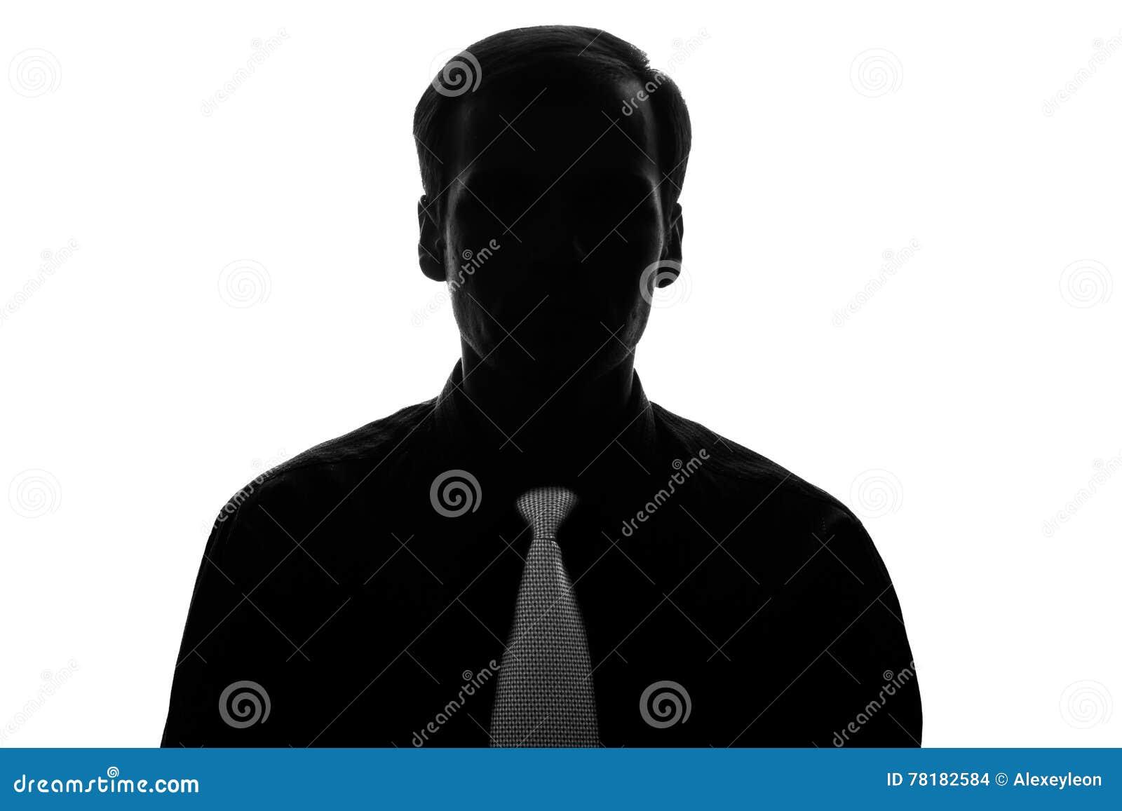 Νεαρός άνδρας πορτρέτου στο κοστούμι, δεσμός στη σκιαγραφία - μπροστινή άποψη