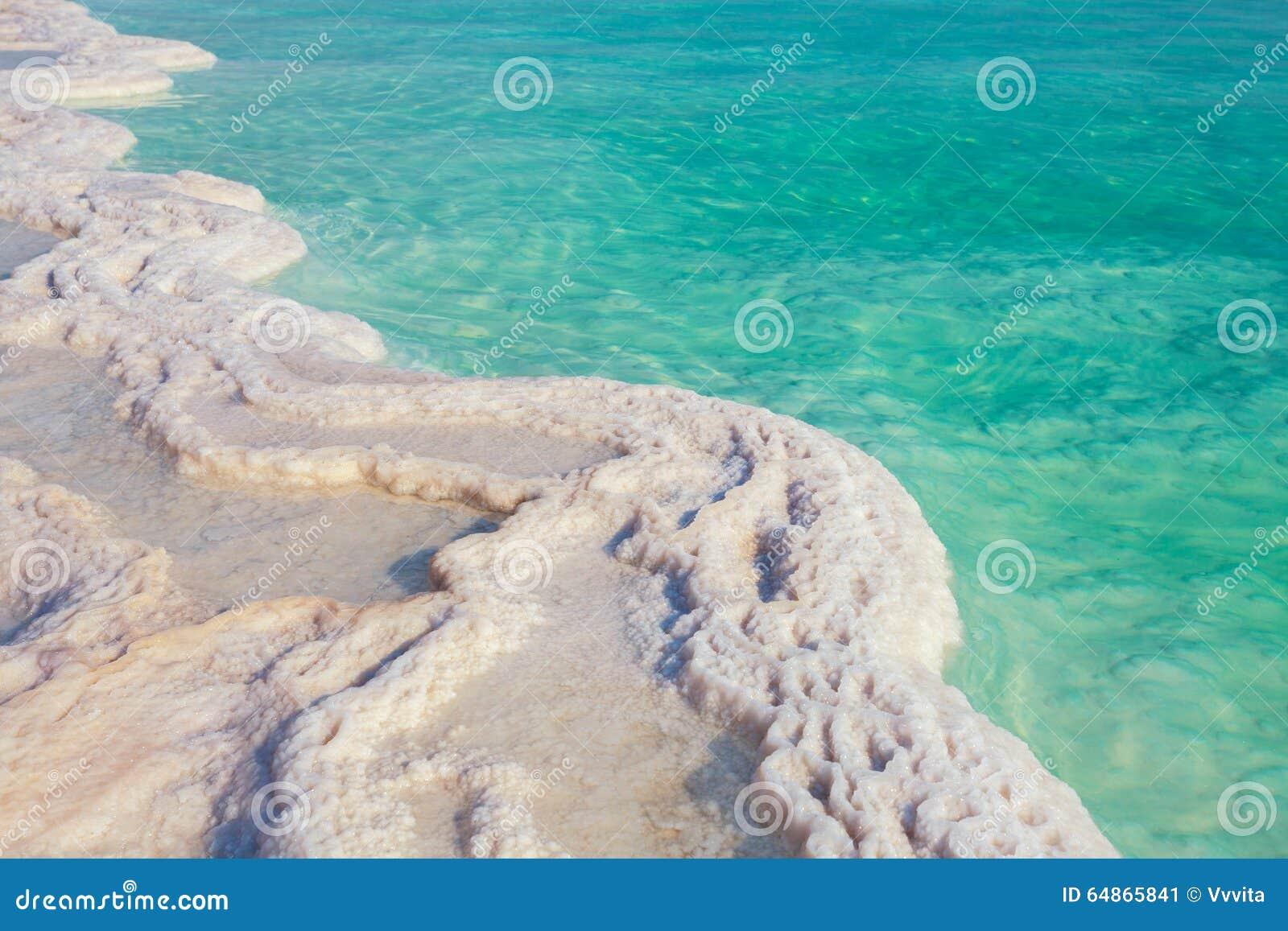 Νεκρή αλατισμένη ακτή θάλασσας