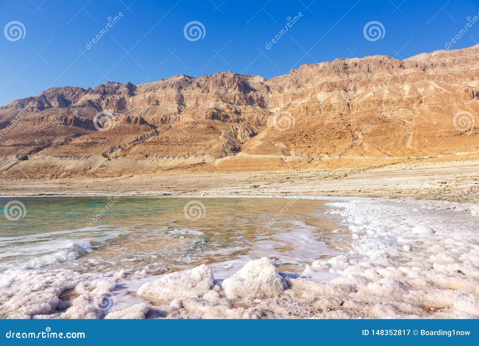 Νεκρή φύση τοπίων του Ισραήλ θάλασσας