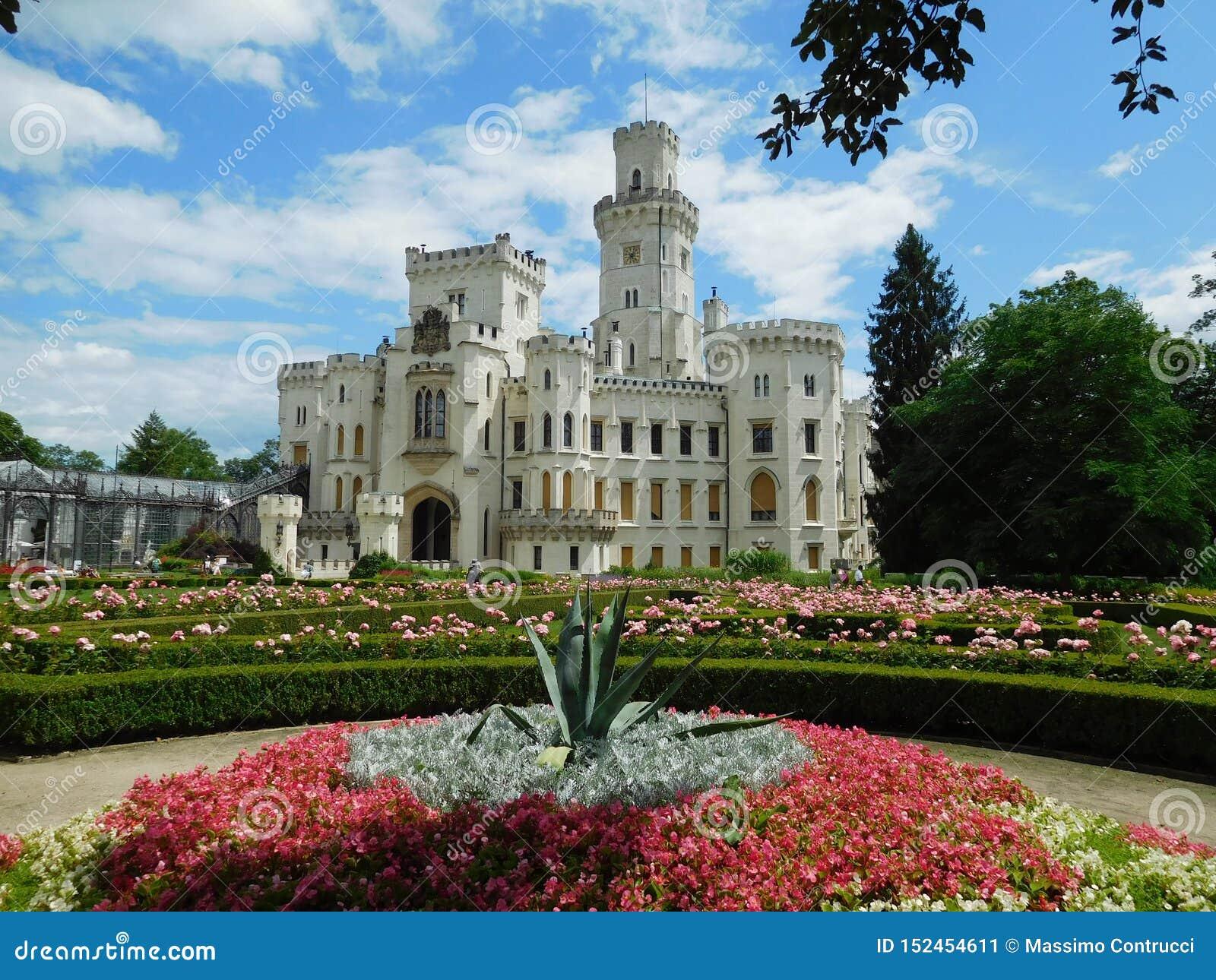 Νεογοτθικό κάστρο στο NAD Vltavou, Δημοκρατία της Τσεχίας Hluboka