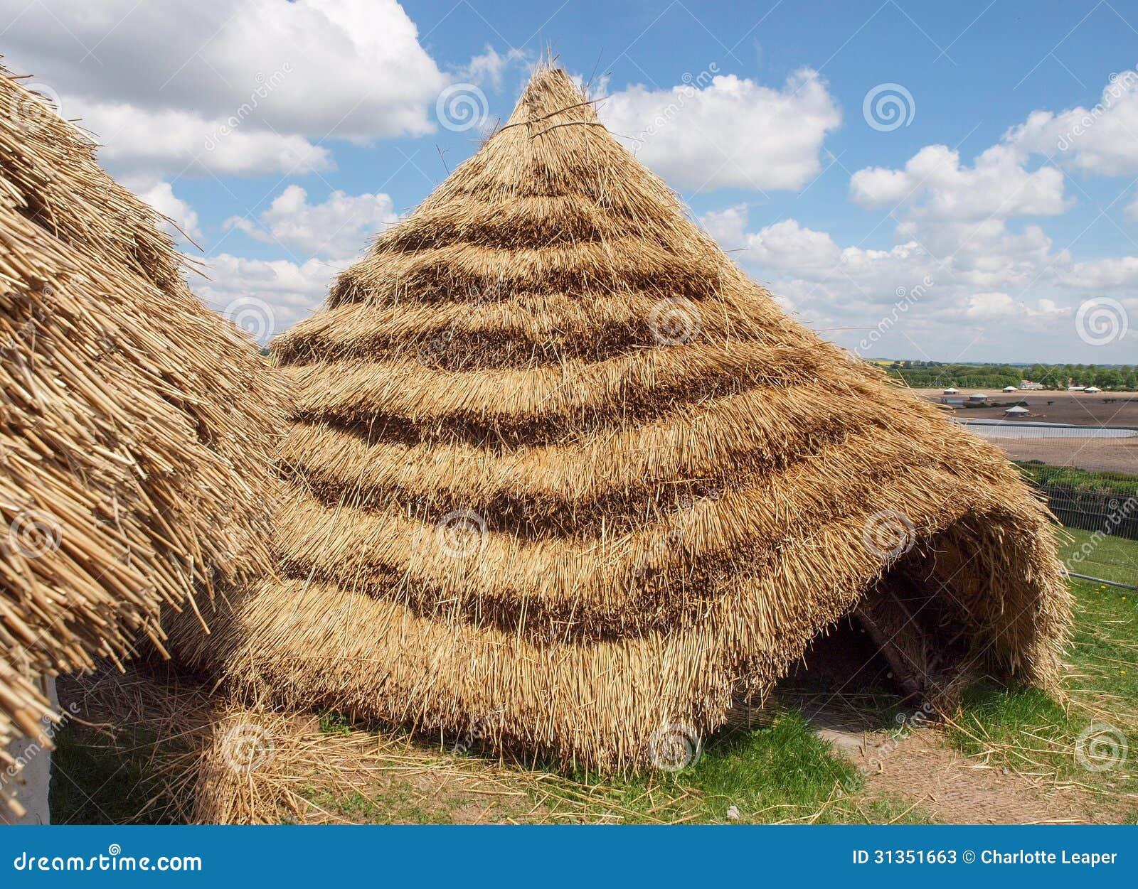 Το άχυρο τα νεολιθικά σπίτια που
