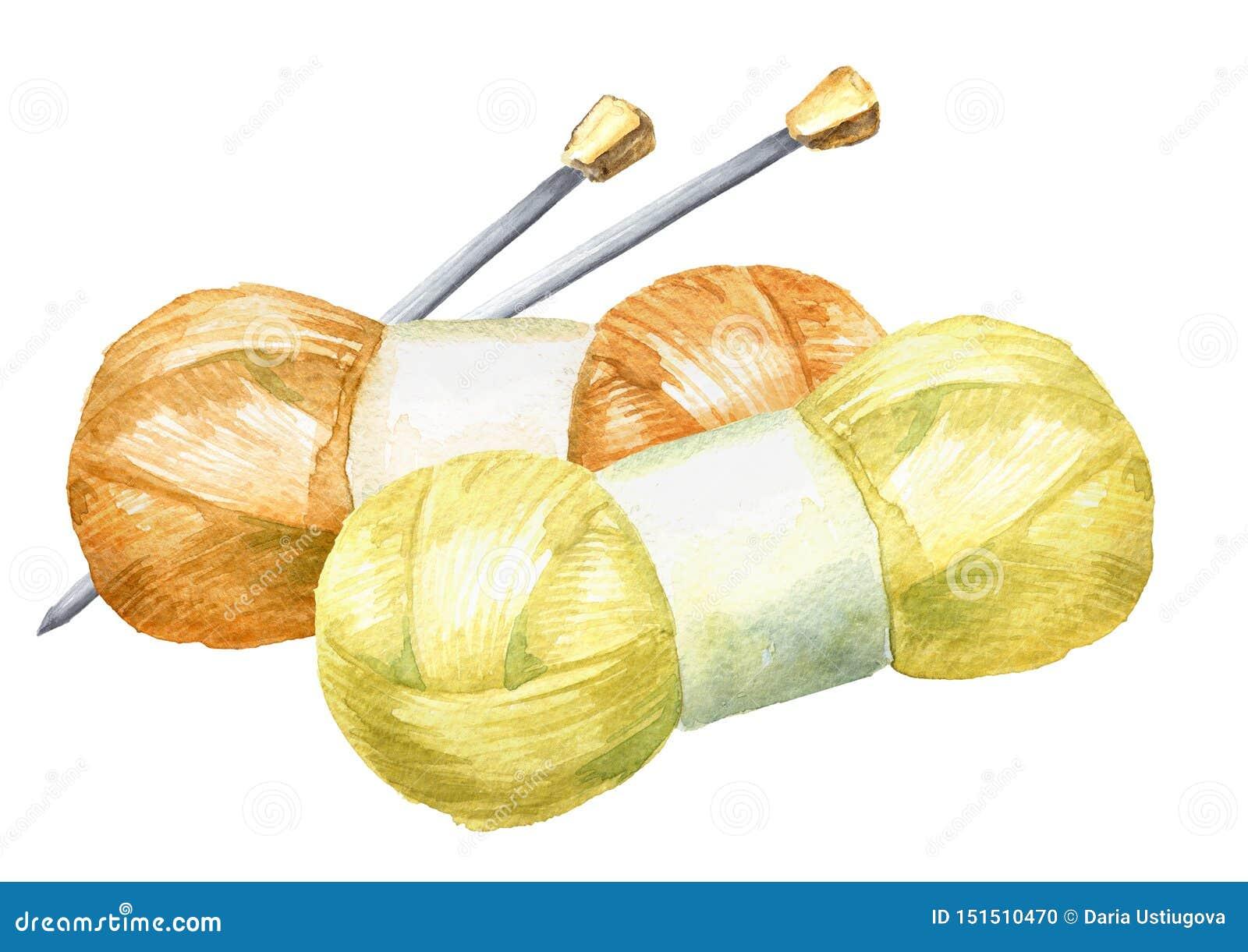 Νηματοδέματα του νήματος και των πλέκοντας βελόνων Χειρωνακτική έννοια πλεξίματος r
