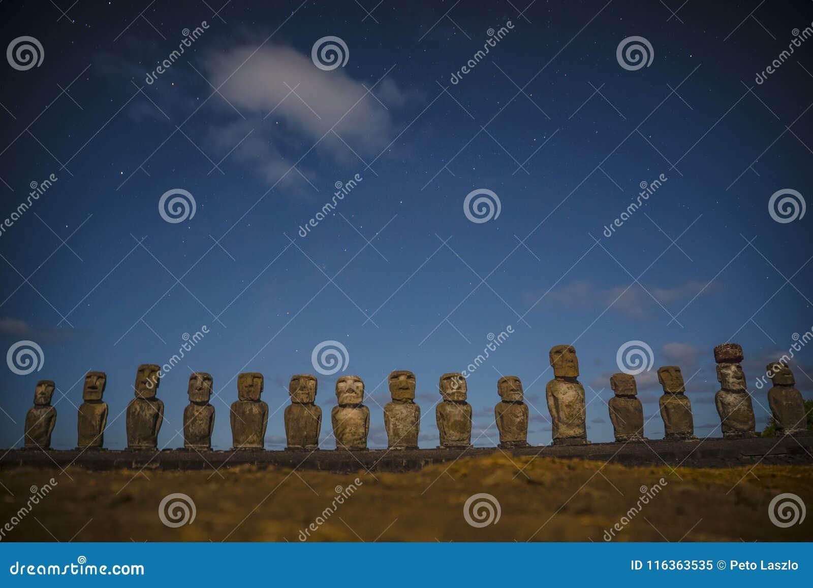Νησί Πάσχας αγαλμάτων Nui Moai Rapa