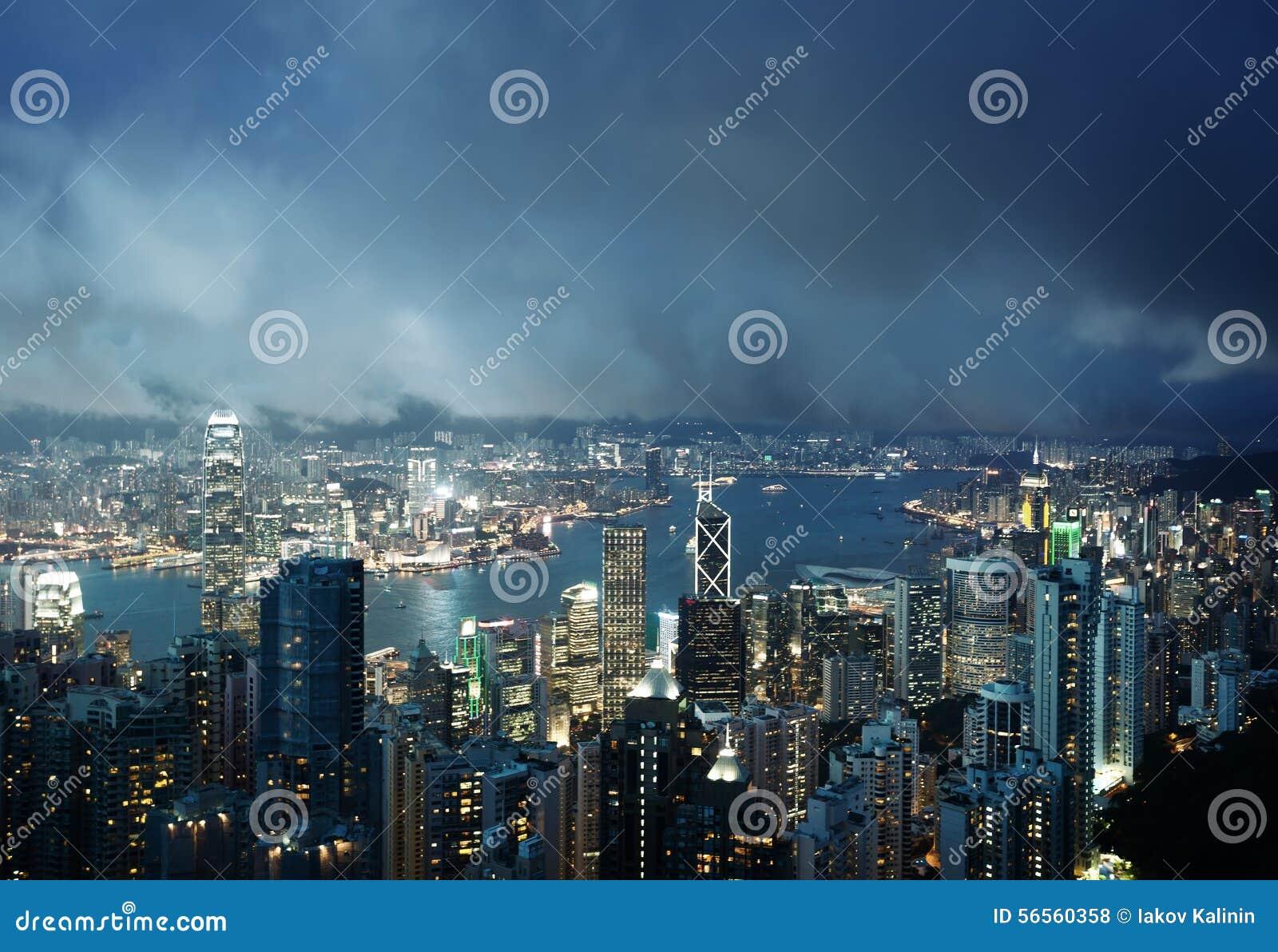 Download Νησί Χονγκ Κονγκ από την αιχμή Βικτώριας Στοκ Εικόνες - εικόνα από κεντρικός, νέο: 56560358
