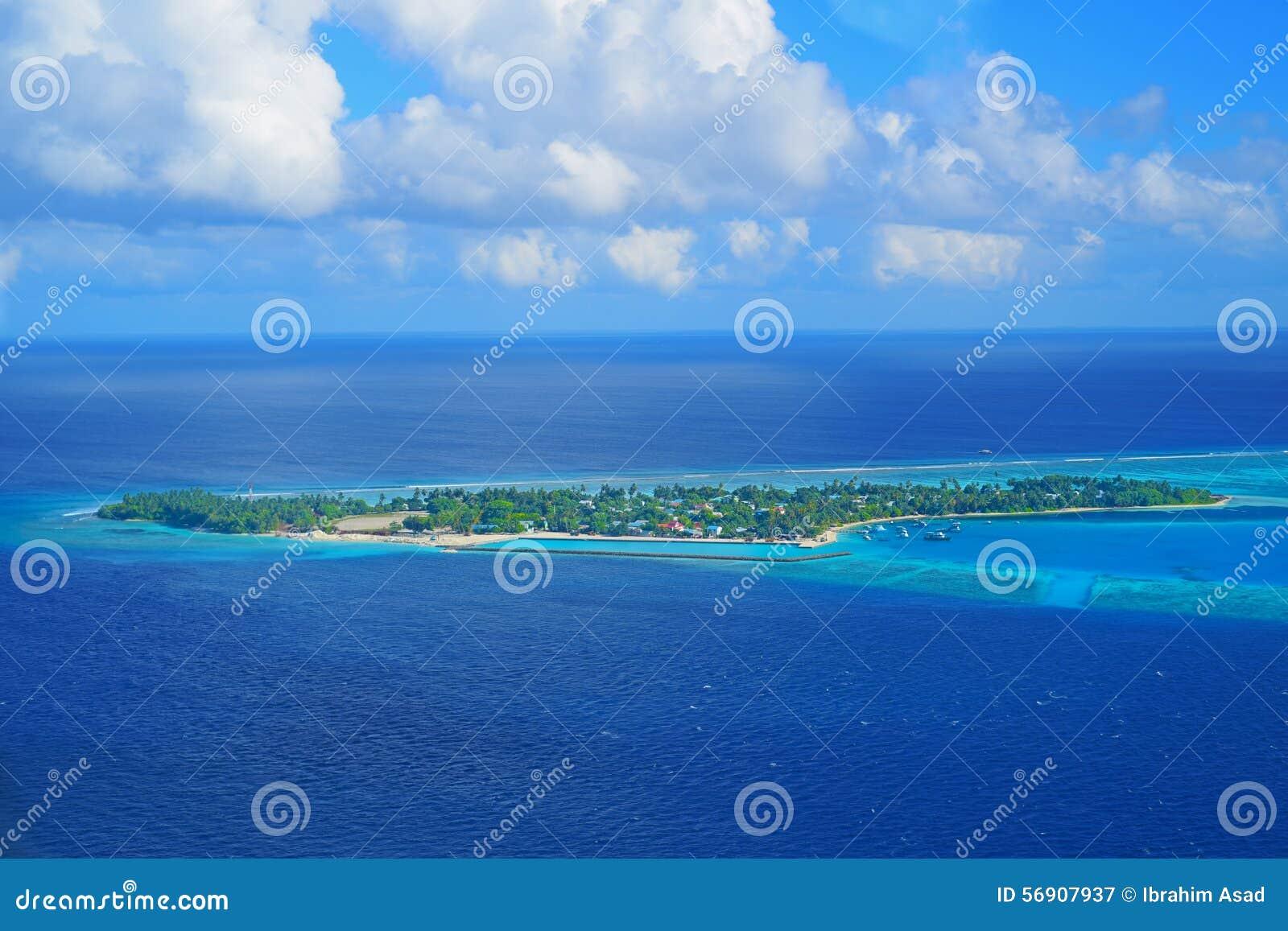 Νησί Manadhoo ατολλών Noonu