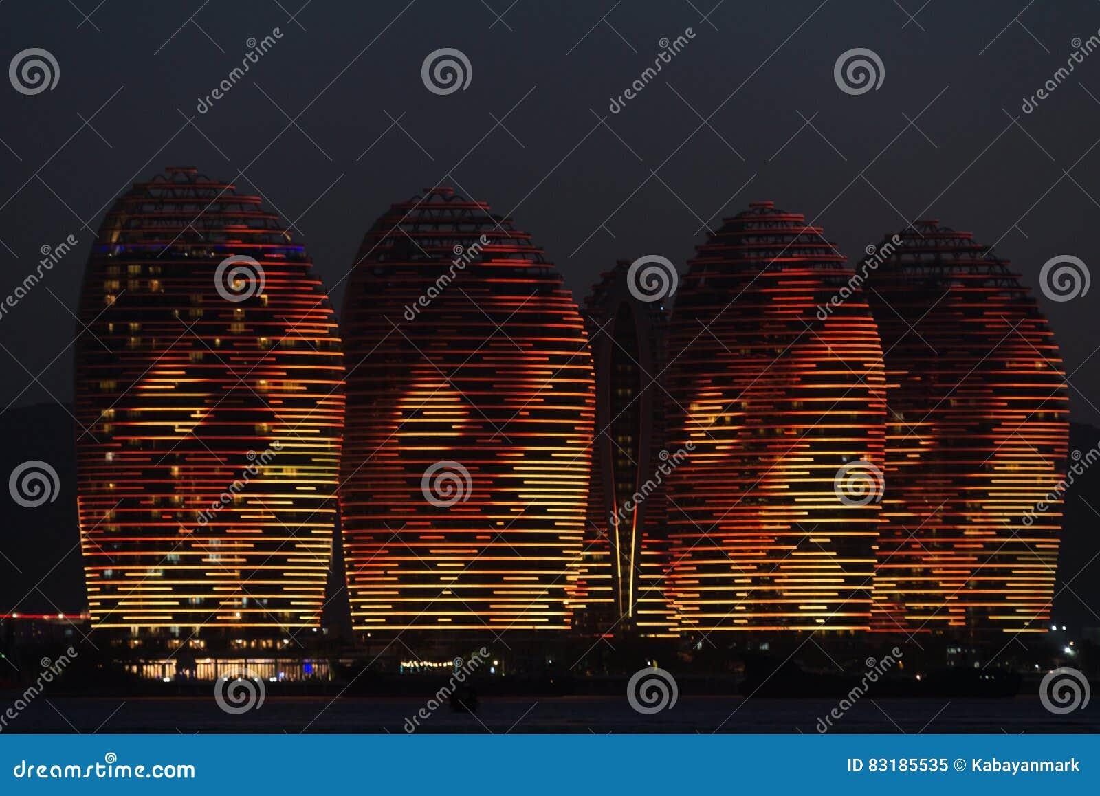 Νησί Sanya, φωτισμένα κτήρια Pheonix Μοναδικό σύγχρονο σχέδιο