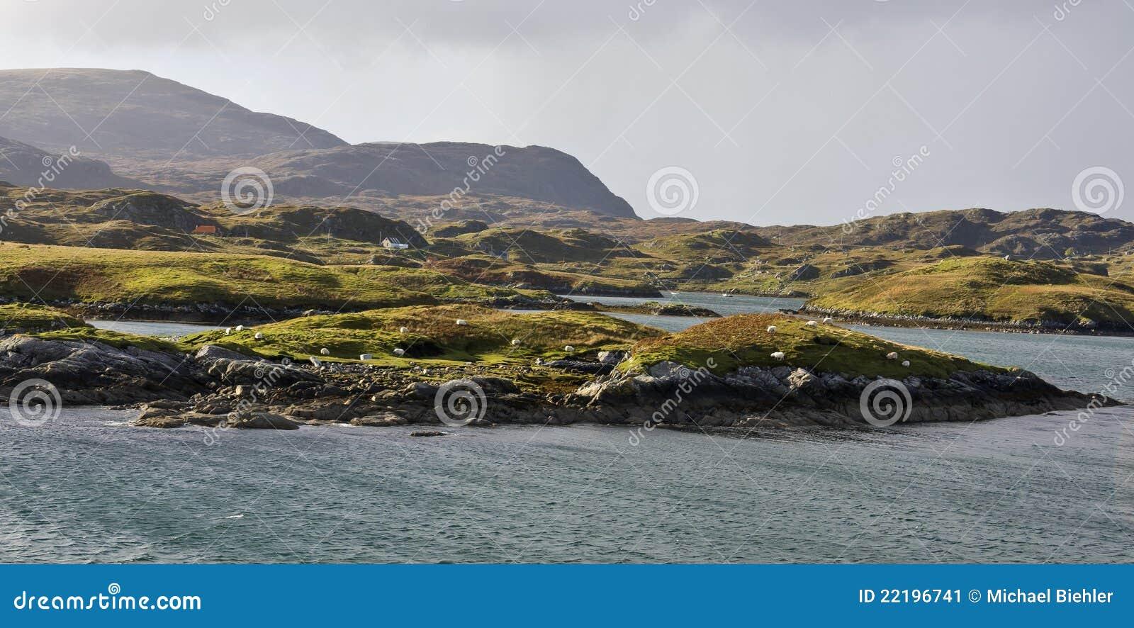 νησιά ακτών scotlands μικρά