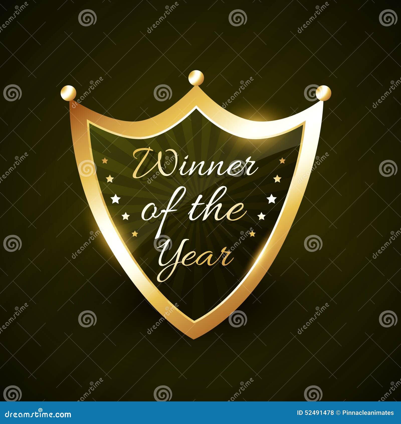 Νικητής του χρυσού λαμπρού διανύσματος διακριτικών ετικετών έτους