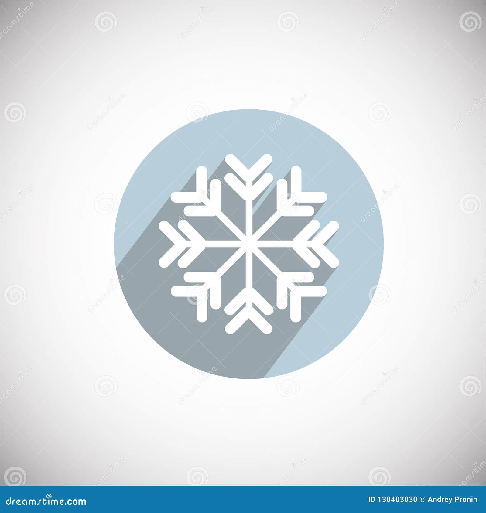 Νιφάδα χιονιού στο επίπεδο υπόβαθρο