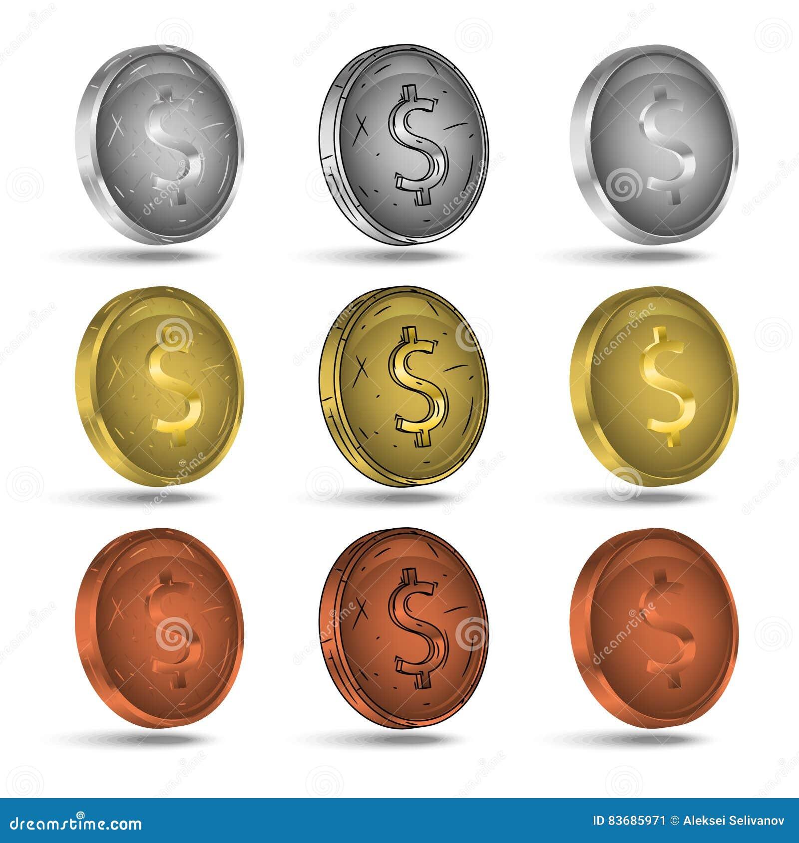 νομίσματα που τίθενται Νομίσματα χρυσού, ασημιών και βαρελοποιών