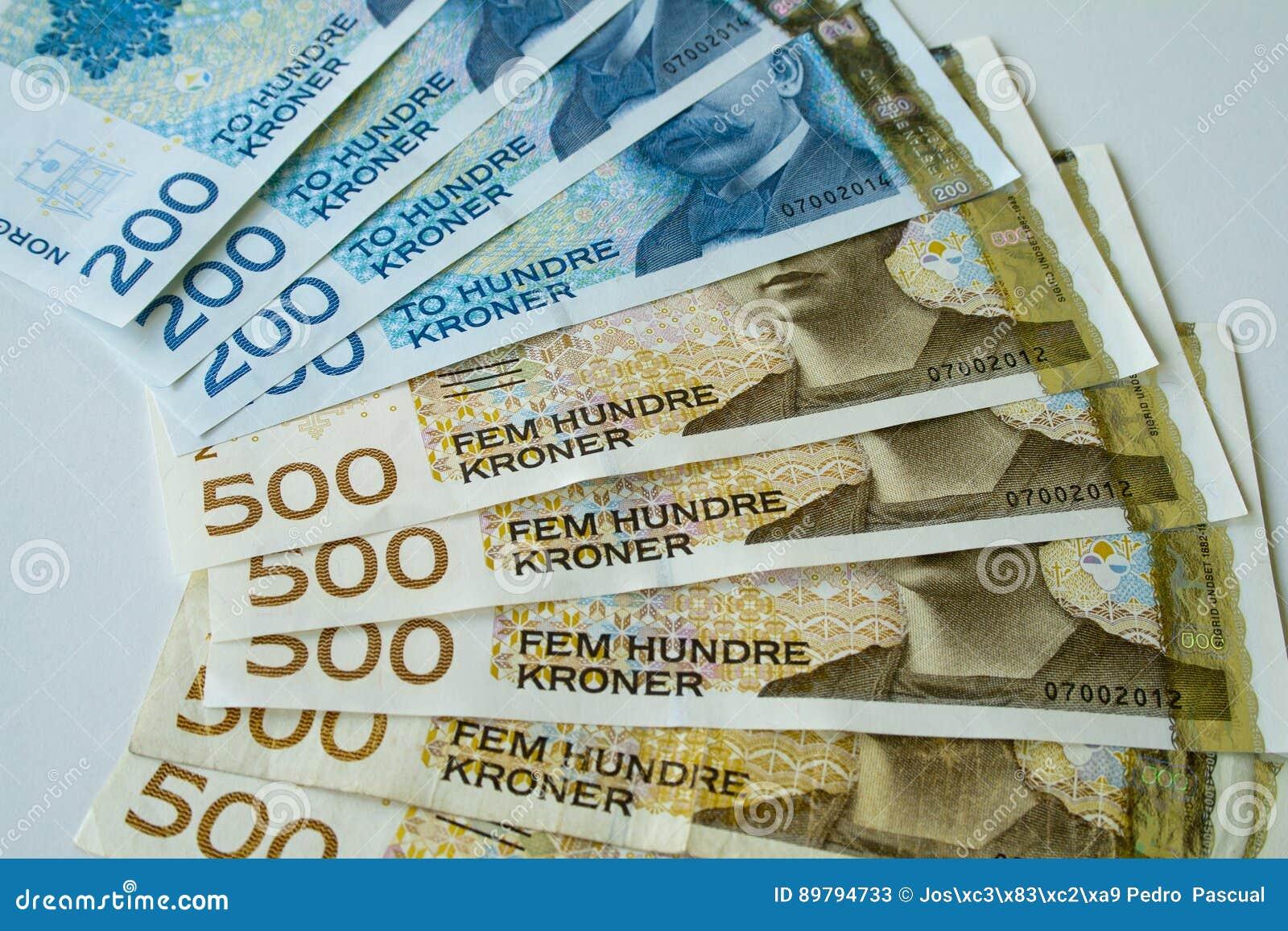 Νορβηγικά χρήματα εγγράφου κορωνών