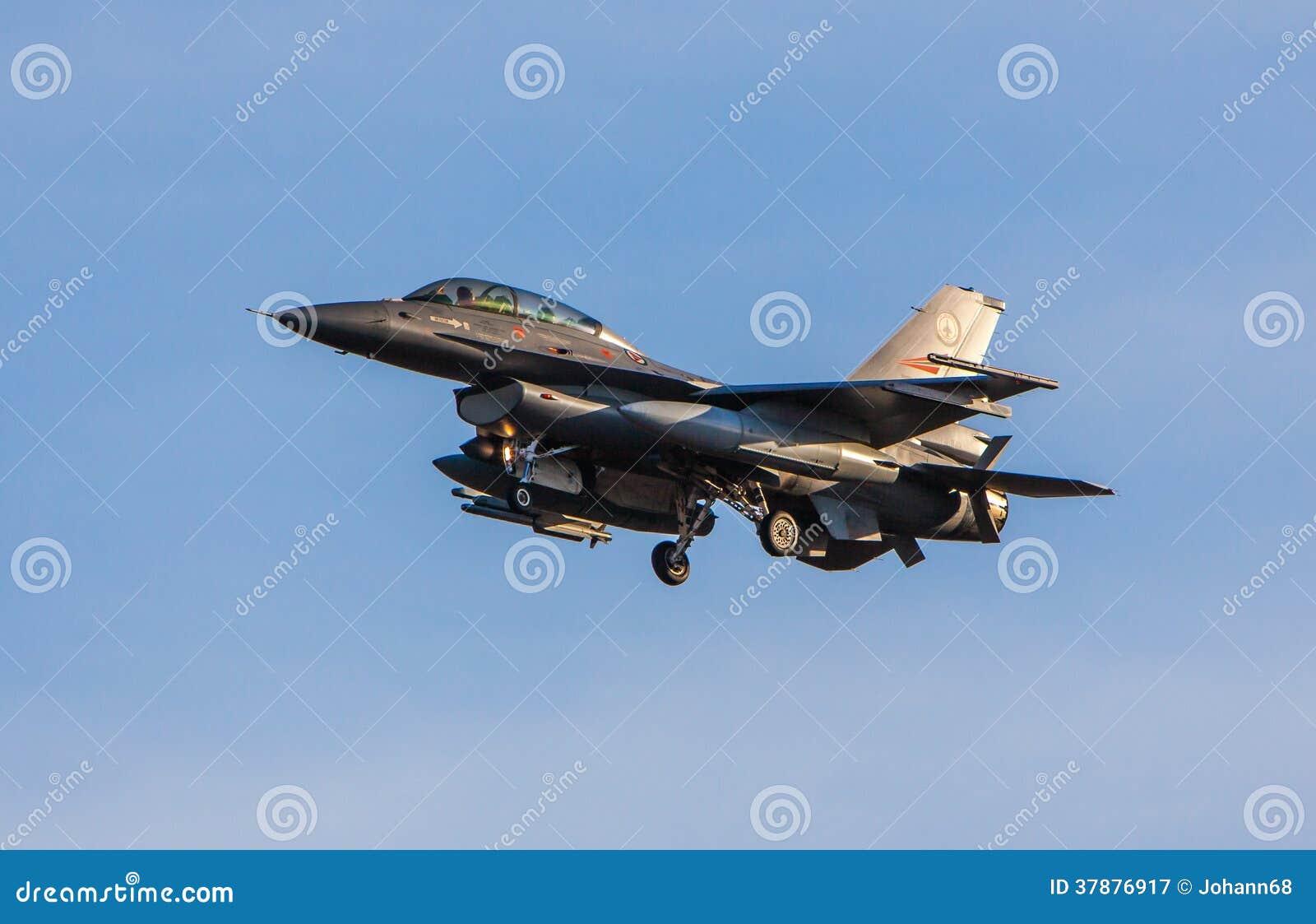 Νορβηγικό αεριωθούμενο αεροπλάνο πολεμικό αεροσκάφος F-16