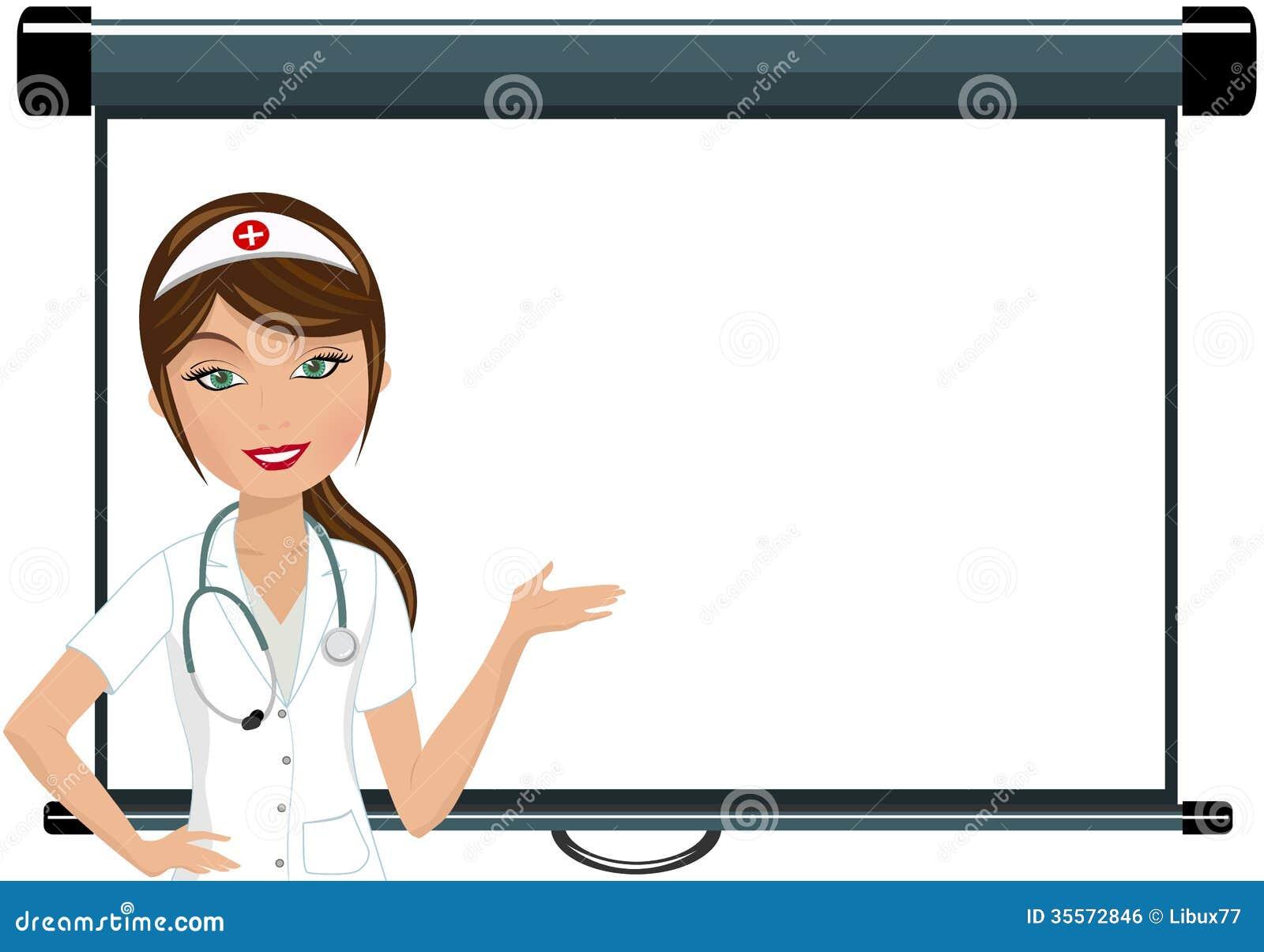 Νοσοκόμα που παρουσιάζει