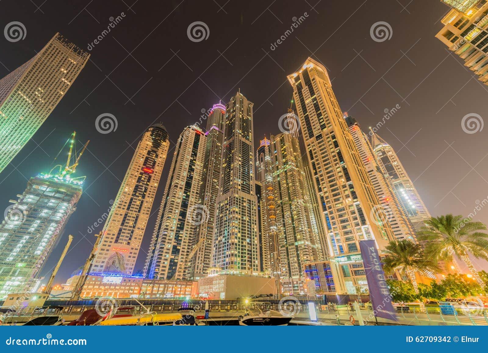 Ντουμπάι - 10 Ιανουαρίου 2015: Περιοχή μαρινών επάνω