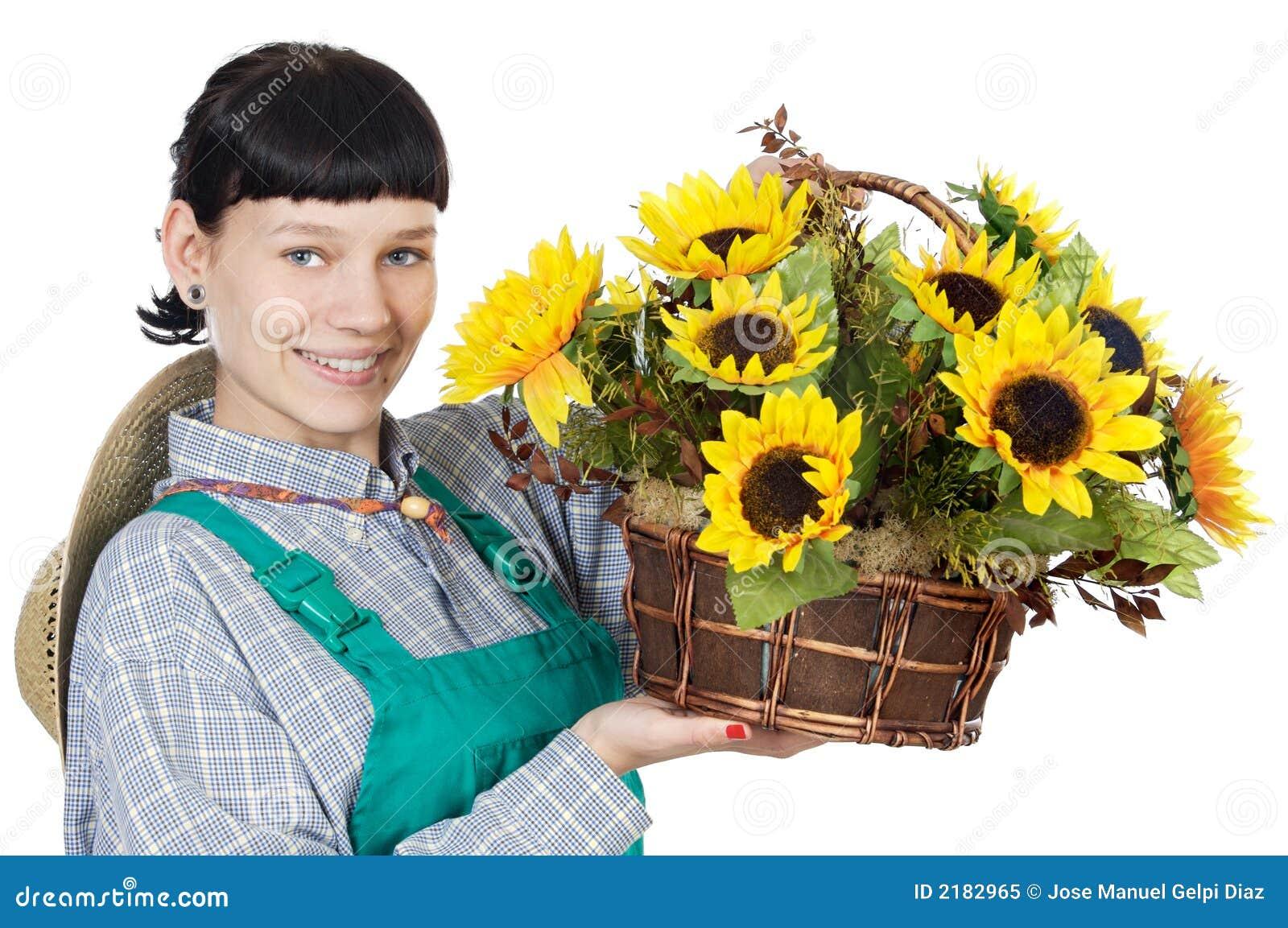 ντυμένη γυναίκα κηπουρών