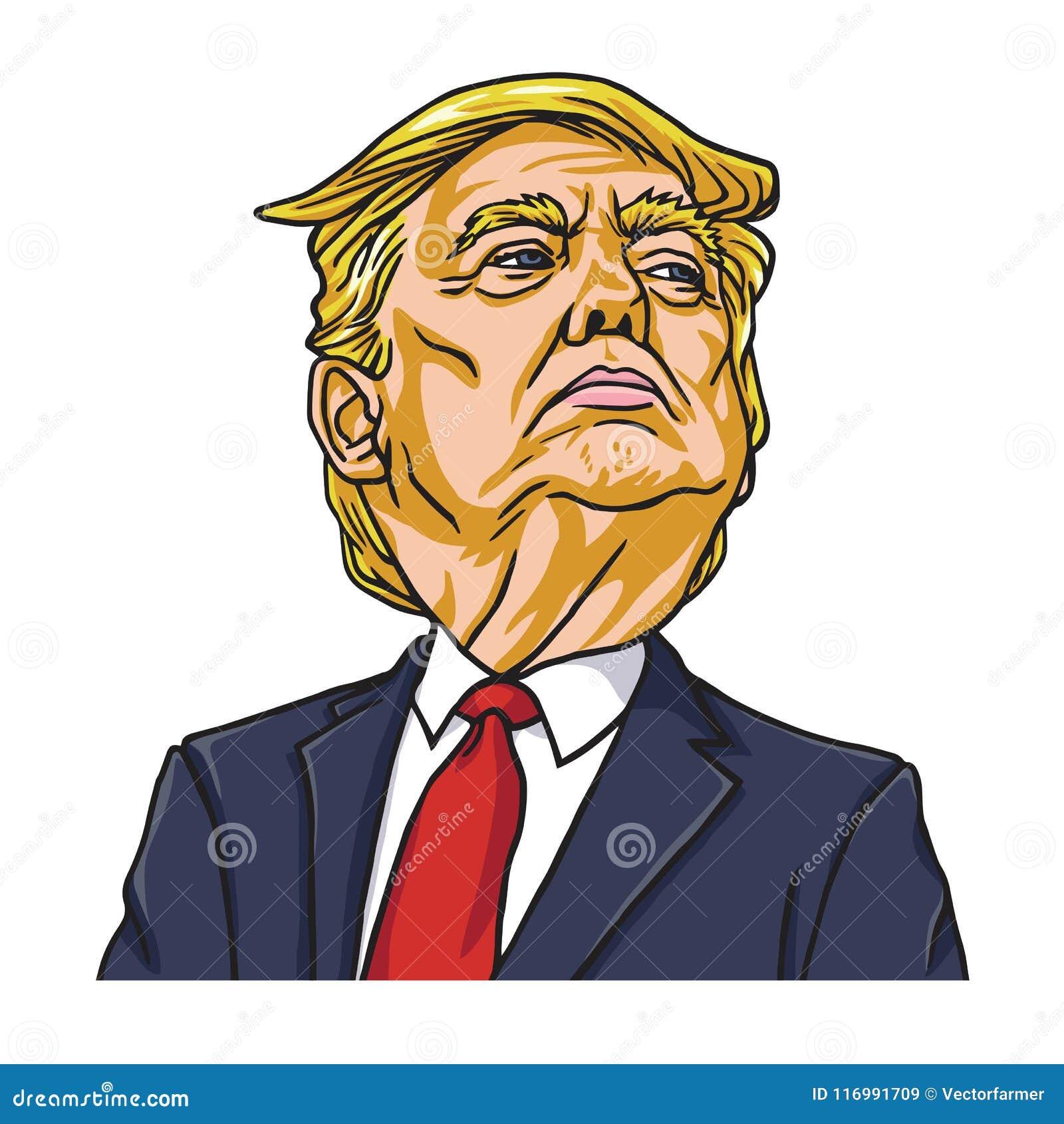 Ντόναλντ Τραμπ ο Πρόεδρος των Ηνωμένων Πολιτειών της Αμερικής cartoon Ουάσιγκτον, στις 19 Μαΐου 2018