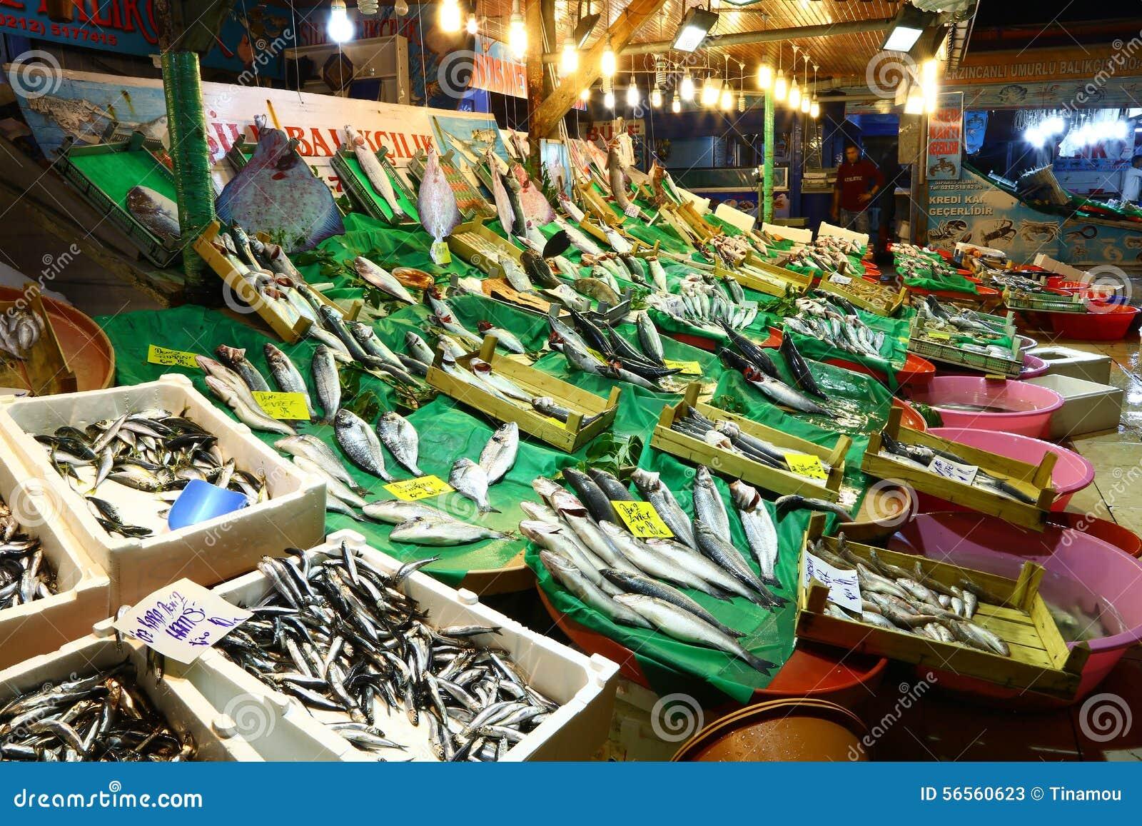 Download Νυκτερινή αγορά ψαριών στη Ιστανμπούλ, Τουρκία Εκδοτική Στοκ Εικόνες - εικόνα από τουρκία, τουρκικά: 56560623