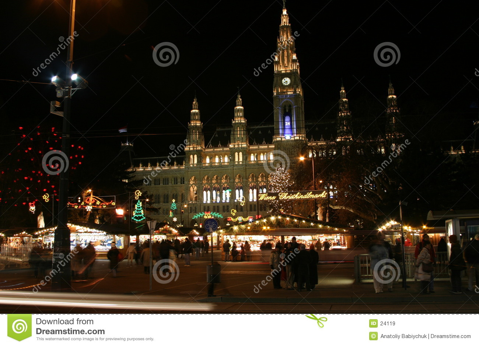 νυχτερινή πόλη Βιέννη αιθο&upsil