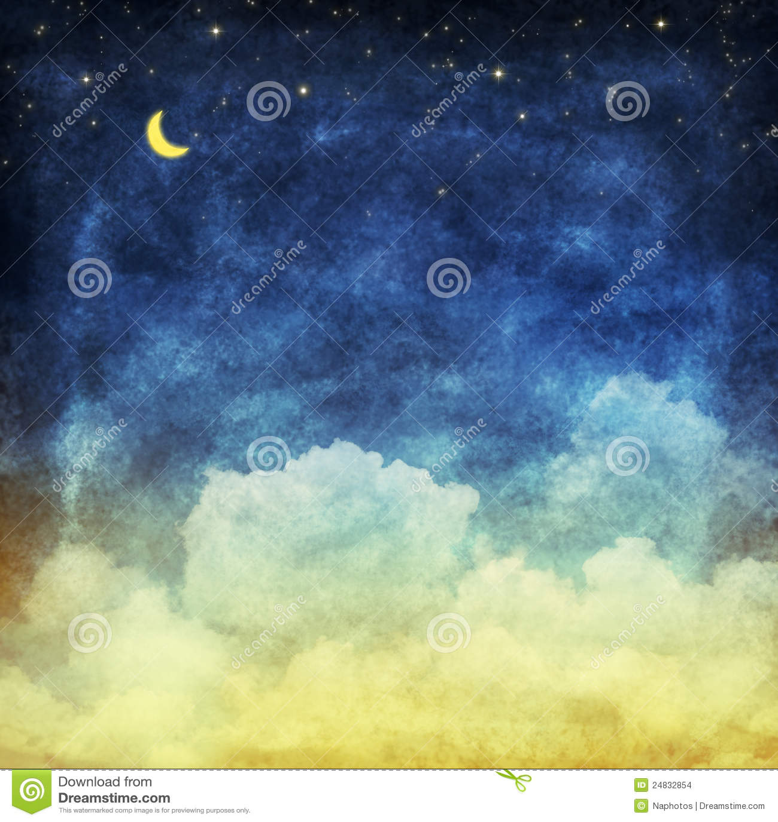 νυχτερινός ουρανός σύννεφων