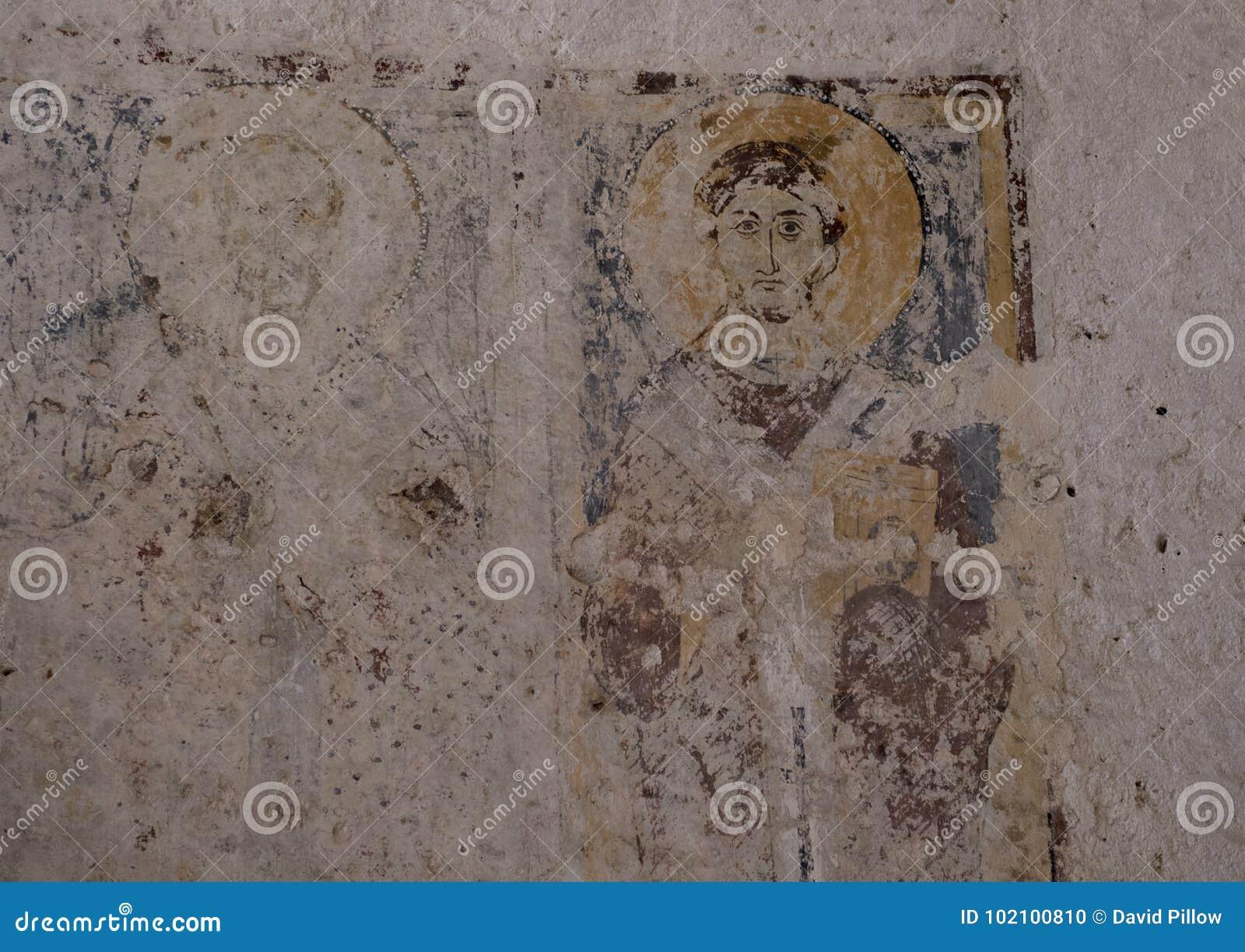 Νωπογραφία Αγίου Philip σε Λα Chiesa Di Lama Δ ` Antico, λάμα Δ ` Antico Parco Rupestre