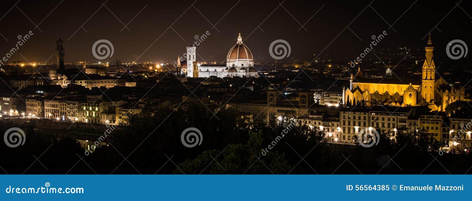 Download νύχτα της Φλωρεντίας στοκ εικόνα. εικόνα από τοπίο, μνημείο - 56564385