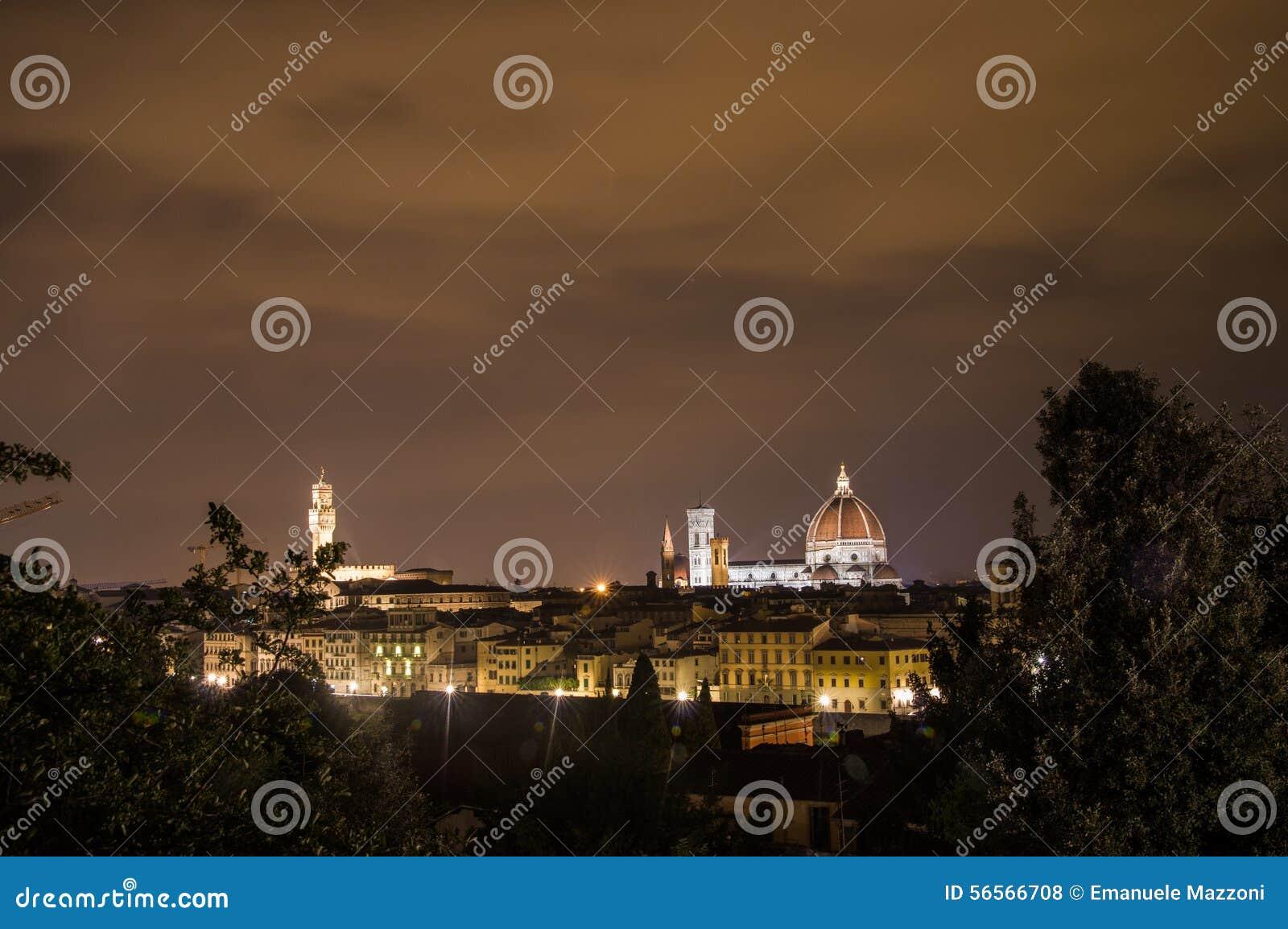 Download νύχτα της Φλωρεντίας στοκ εικόνες. εικόνα από μουσείο - 56566708