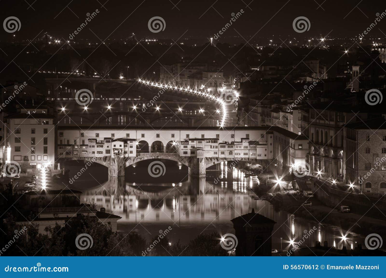 Download νύχτα της Φλωρεντίας στοκ εικόνες. εικόνα από μνημείο - 56570612