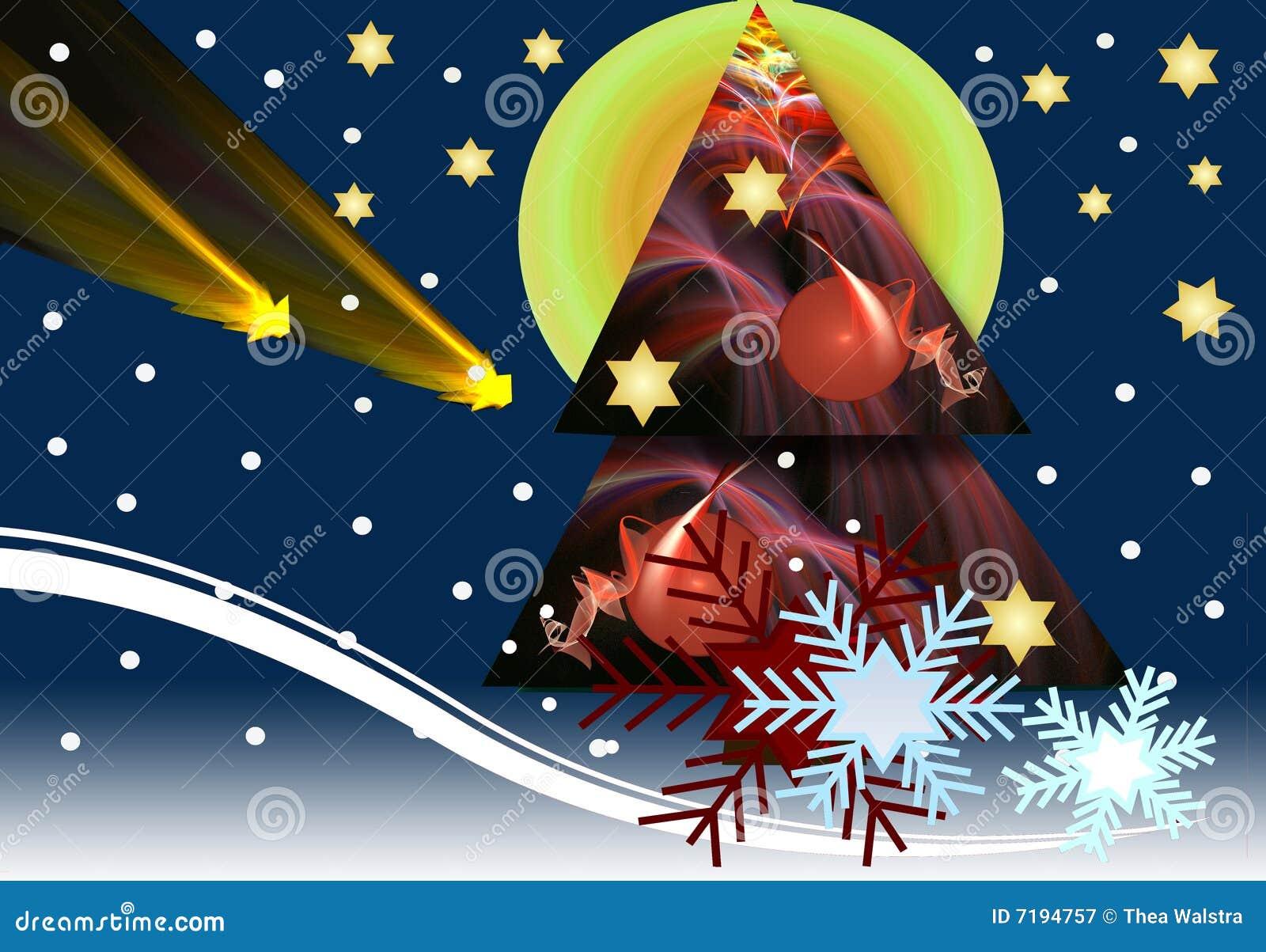νύχτα Χριστουγέννων χιονώδ&