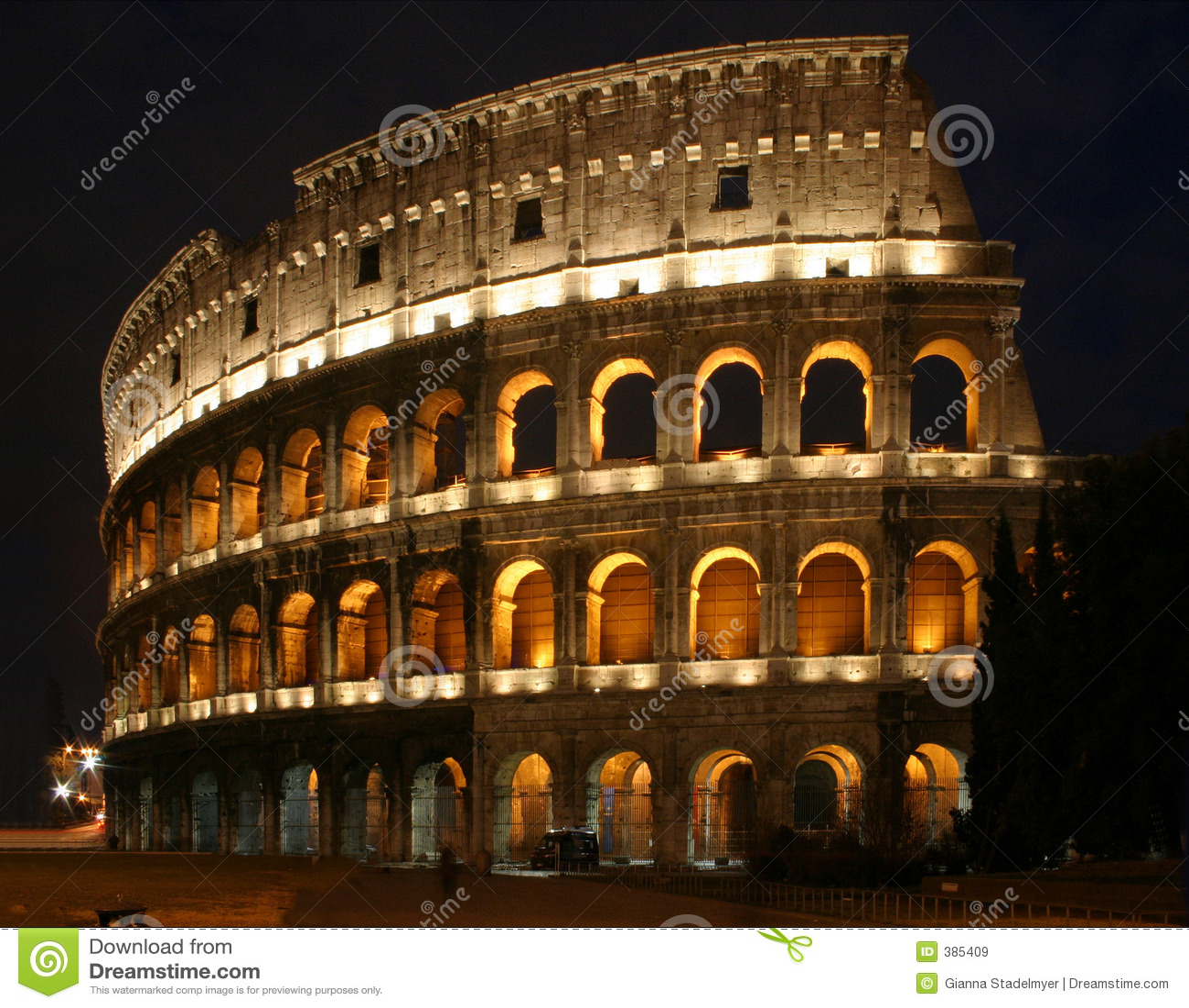 νύχτα coloseum