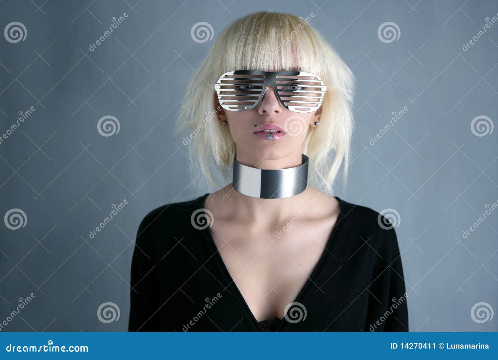 ξανθό ασήμι γυαλιών κοριτ&sigm