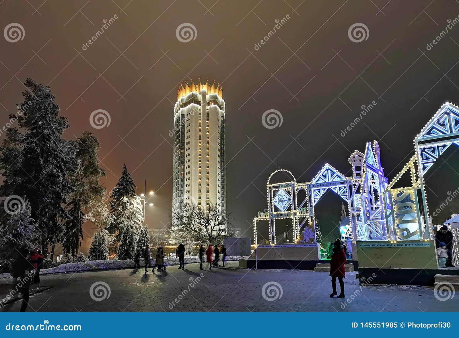 Ξενοδοχείο του Καζακστάν στο Αλμάτι, Καζακστάν για Christmass