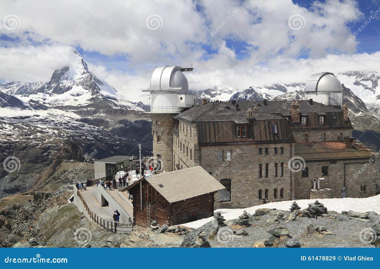 Ξενοδοχείο Gornergrat και αιχμή Matterhorn, Άλπεις, Ελβετία