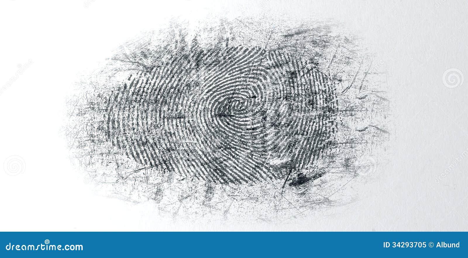 Ξεσκονισμένο δακτυλικό αποτύπωμα σκηνών εγκλήματος