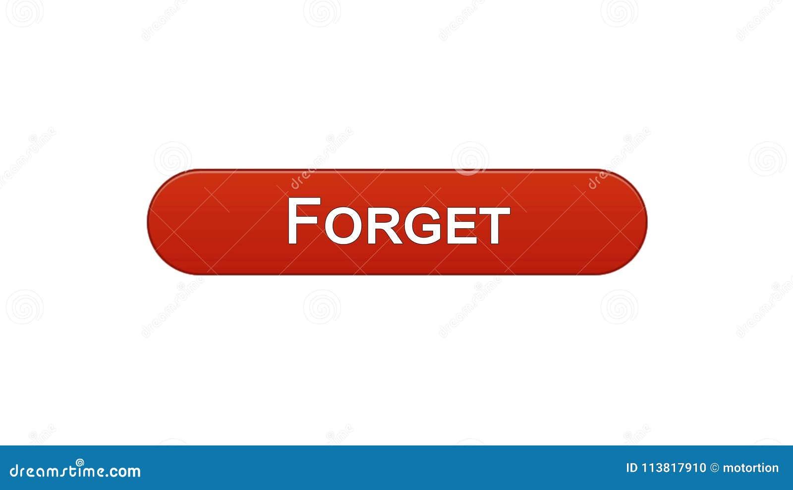 Ξεχάστε το κόκκινο χρώμα κρασιού κουμπιών διεπαφών Ιστού, σχέδιο ιστοσελίδων, σε απευθείας σύνδεση app