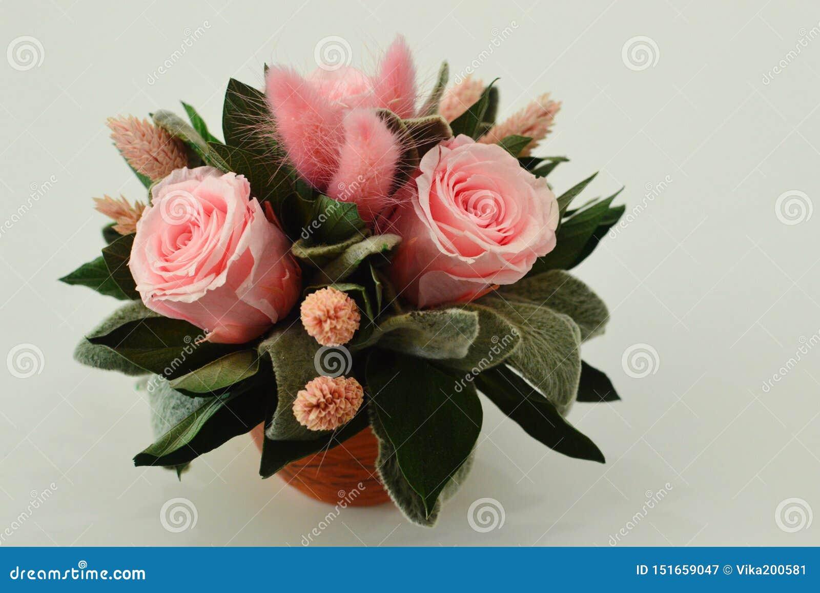 Ξηρά λουλούδια για ένα εσωτερικό ντεκόρ