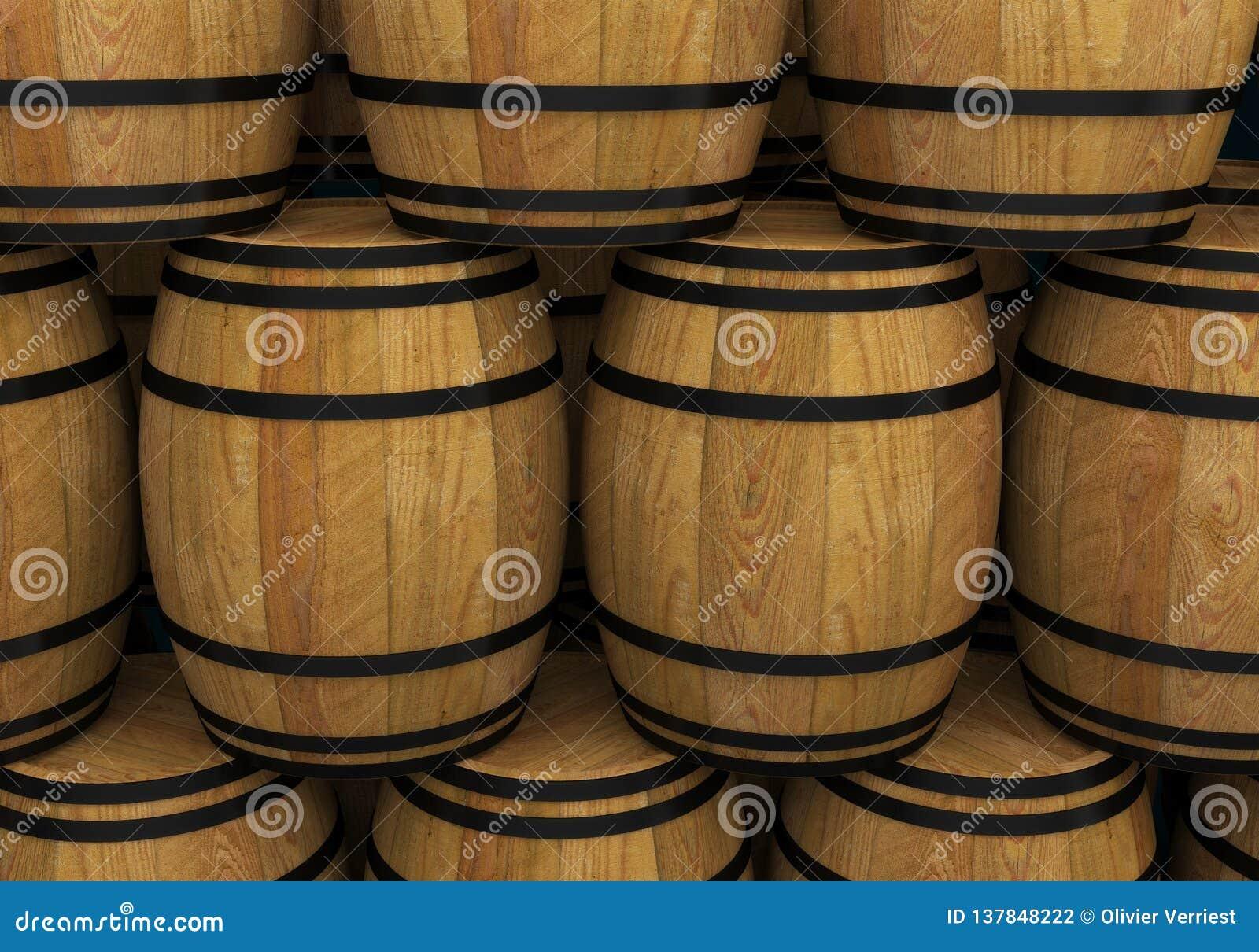 Ξύλινο βαρέλι μπύρας οινοπνεύματος βαρελιών κρασιού