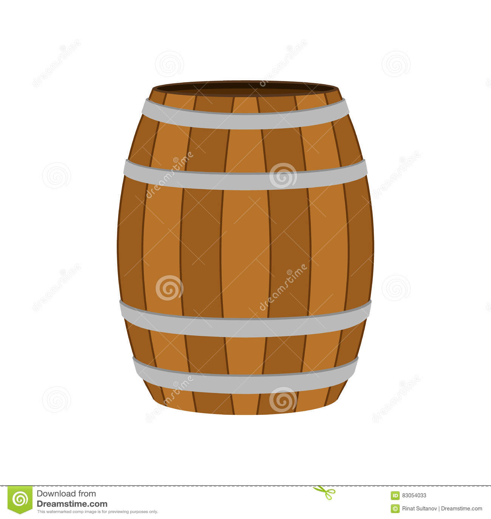 Ξύλινο βαρέλι για το κρασί, μπύρα, ρούμι, κονιάκ, οινόπνευμα Επίπεδο ύφος