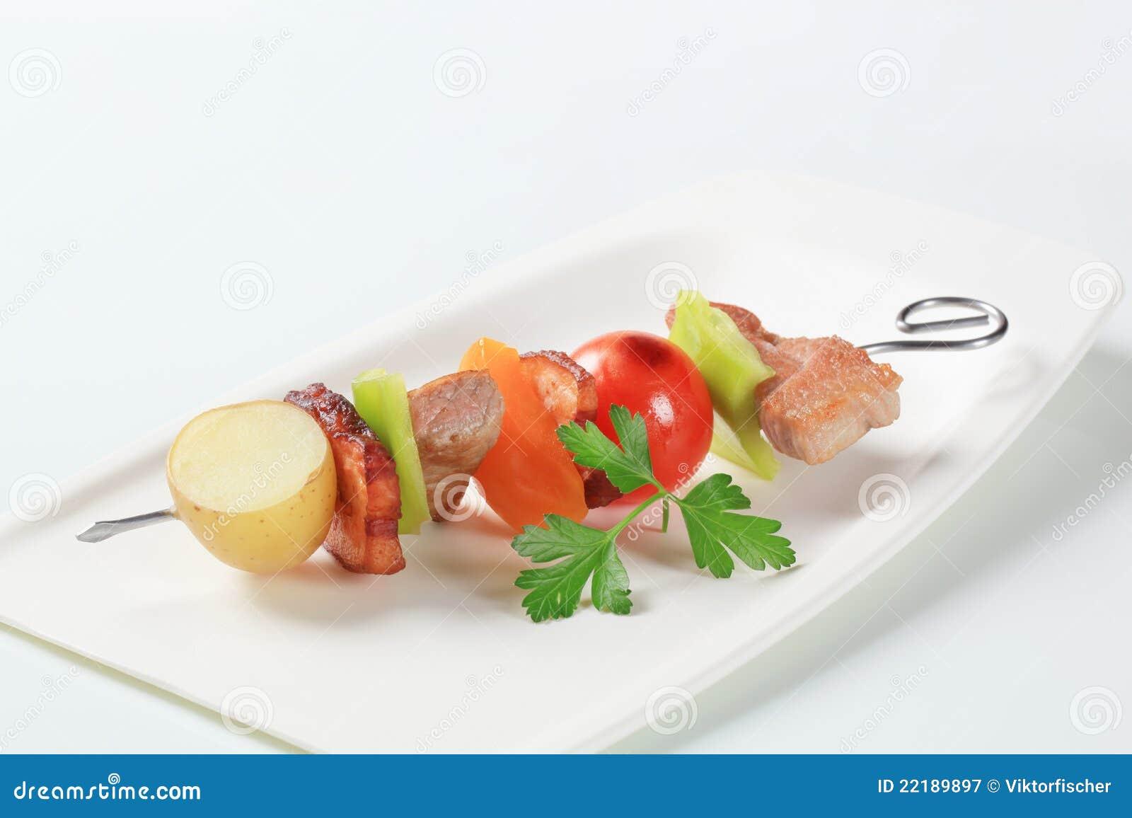 οβελίδιο χοιρινού κρέατ&om