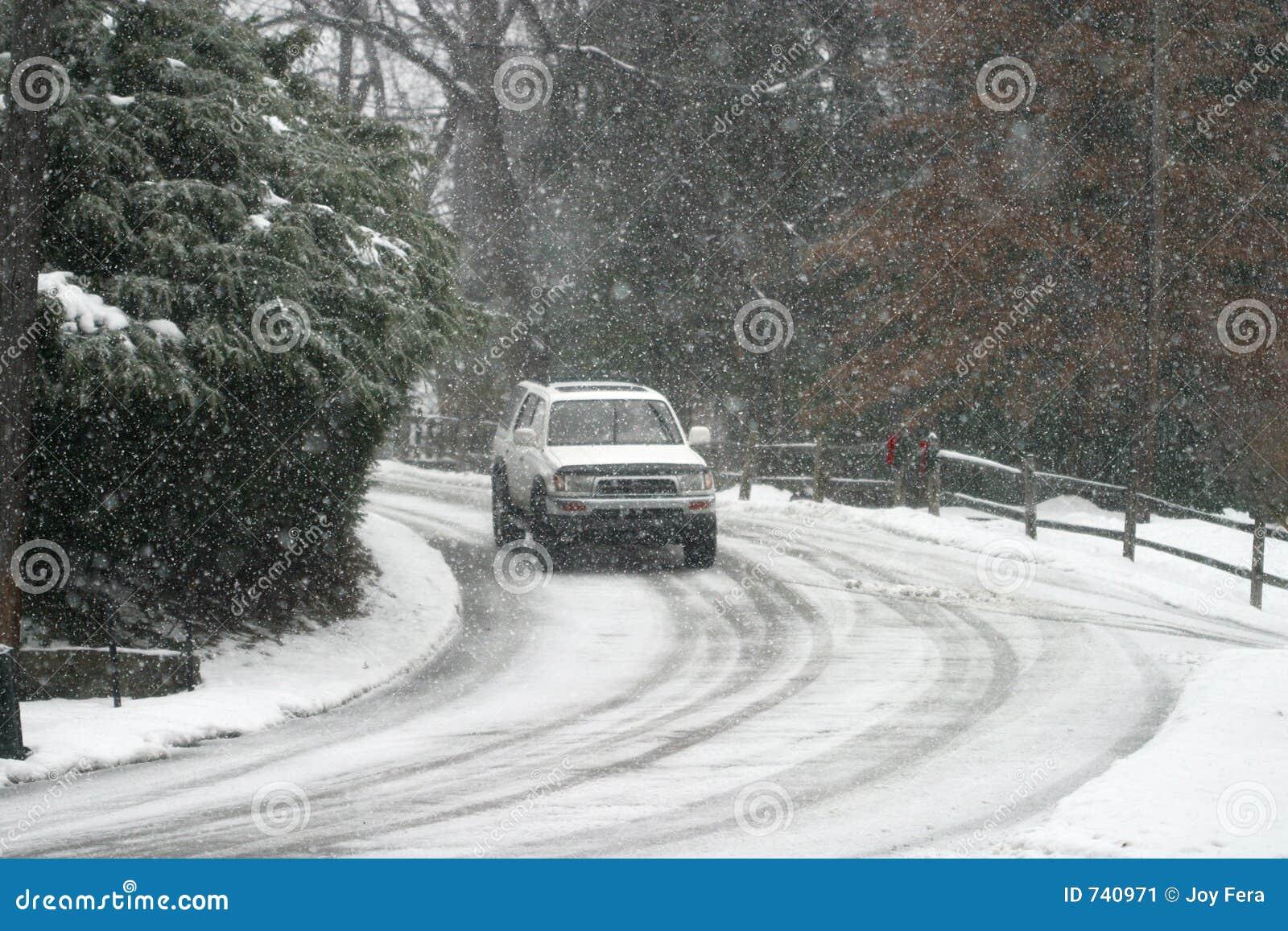 οδηγώντας χιόνι