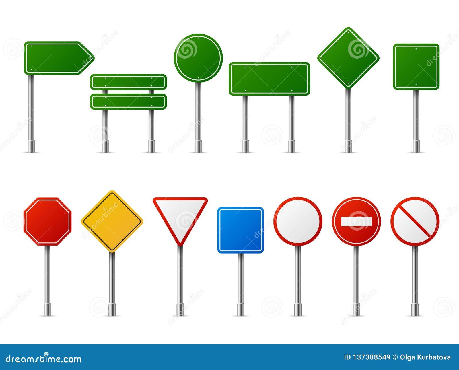 Οδικά ρεαλιστικά σημάδια κυκλοφορίας Κενός πίνακας οδών χώρων στάθμευσης εθνικών οδών ταχύτητας προσοχής κινδύνου στάσεων προειδο