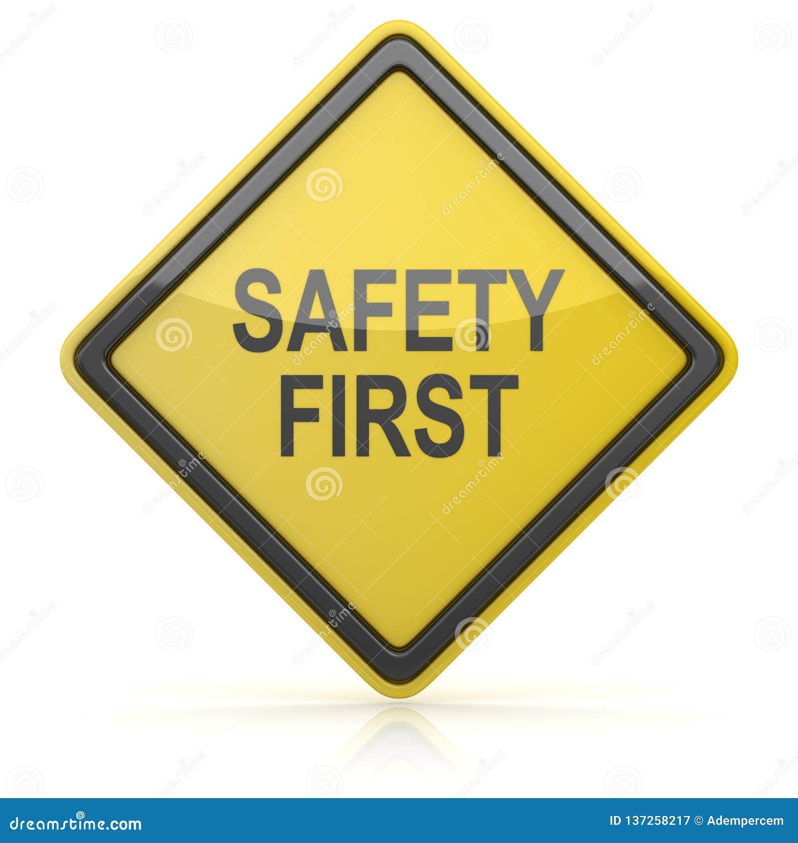 Οδικό σημάδι - ασφάλεια πρώτα