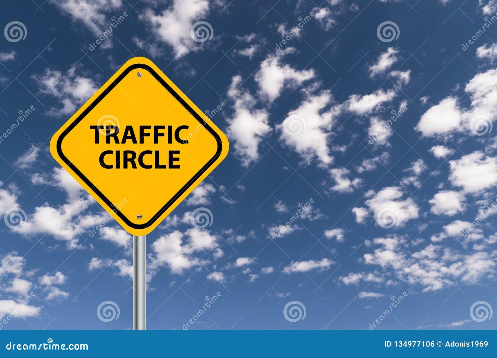 Οδικό σημάδι κύκλων κυκλοφορίας